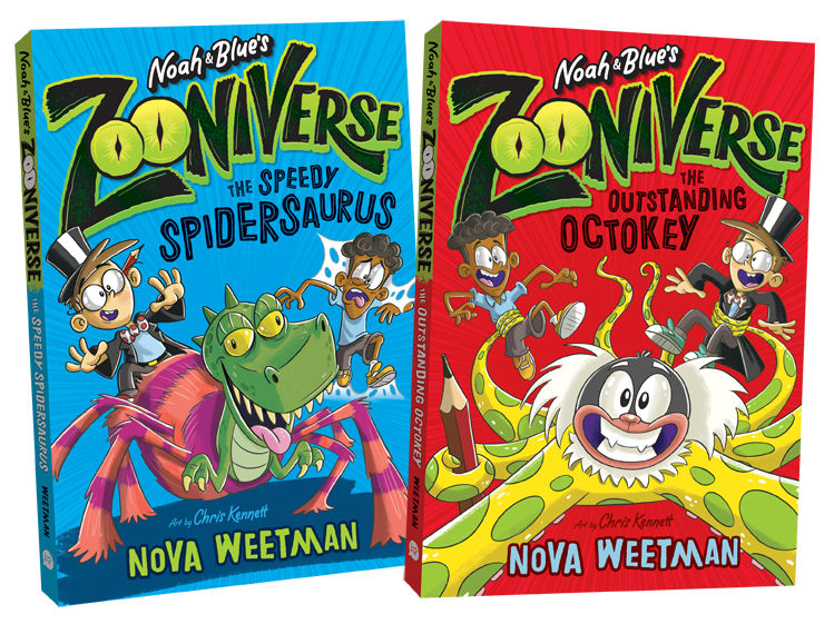 With the help of a magical book, Noah Wriggle and his best friend Blue like to design weird and wonderful animal mash-up creations – and then bring them to life! But sometimes their mash-imals love being alive just a little TOO much … -