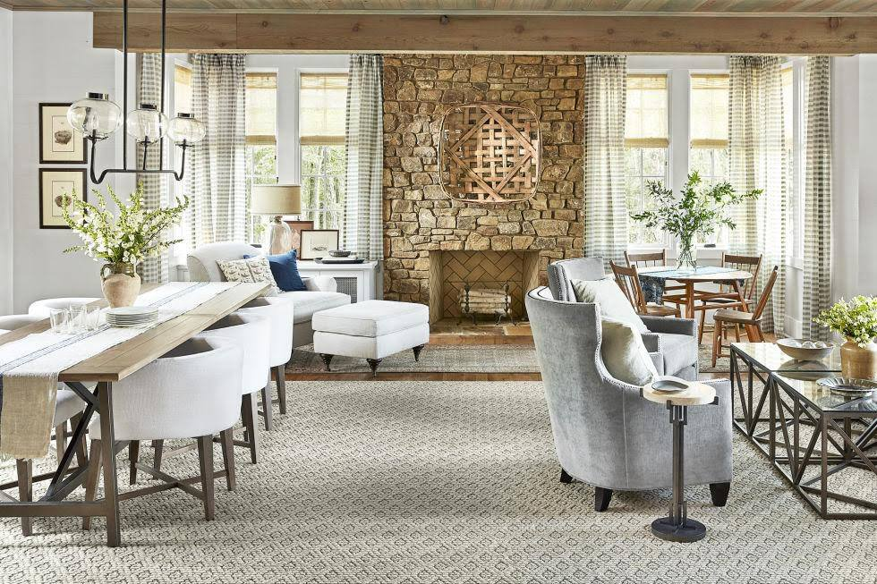 Country Living Magazine's  photo of Lake Martin Show House featuring selections of furniture from Holley's Home Furnishings.