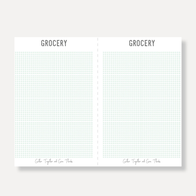 Click to Download:  Grocery List