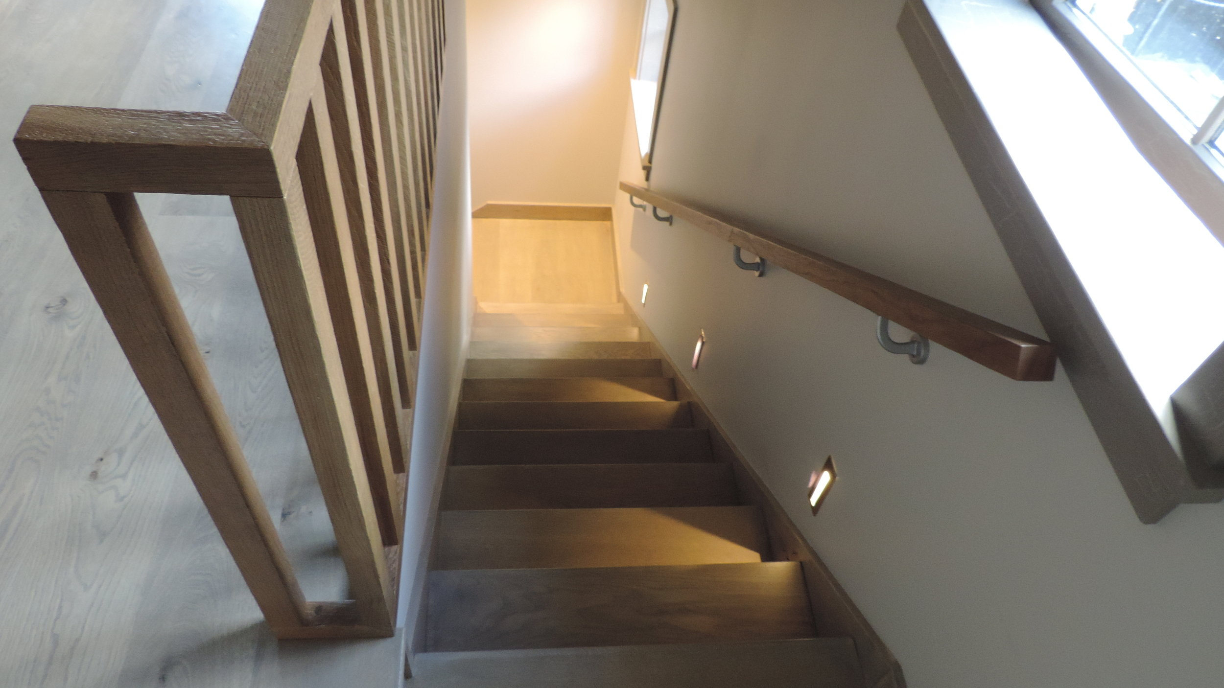 Timber stairs - Our team can manufacture custom and architecturally designed stair cases, balustrades and hand rails. We produce solid timber designs as well as MDF for those of you who will lay carpet or floorings on your stairs.