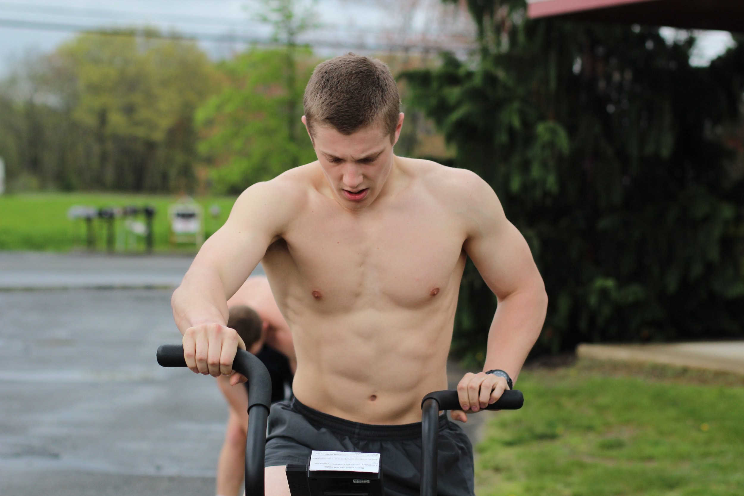 """When you need """"all the air"""" during your assault bike sprints, you take it outside!"""