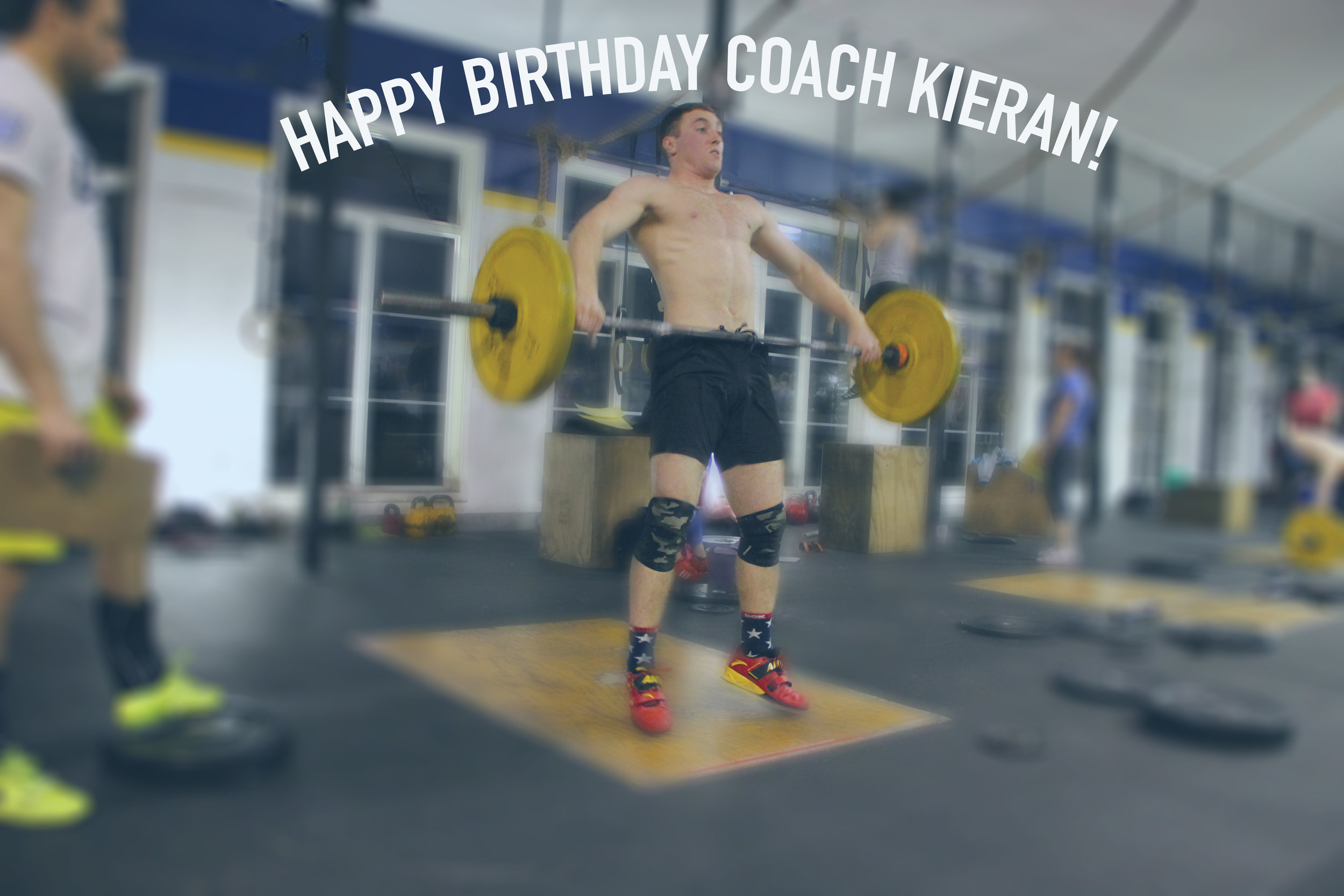 Here's a Great Big Birthday Hug for Coach Kieran!