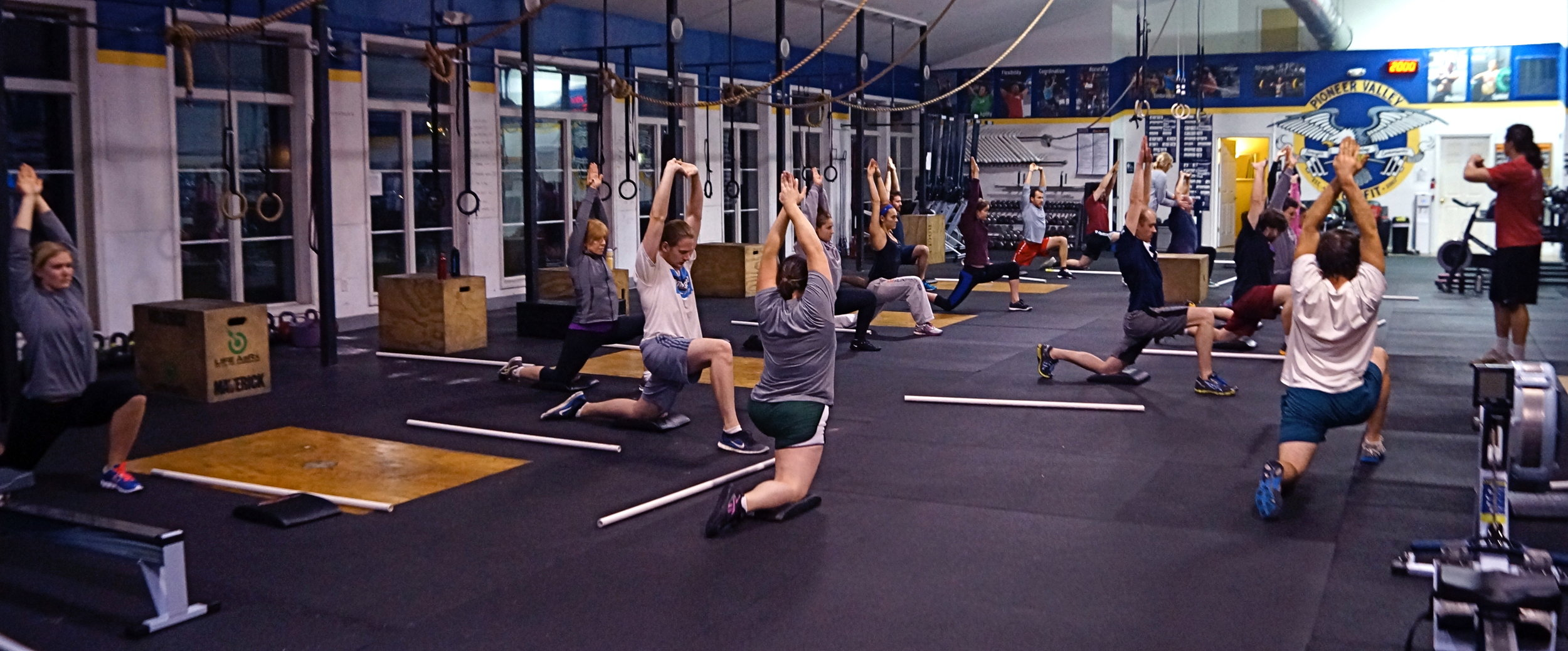 Have a friend who would like to try CrossFit? Tell them about our On-Ramp Program! Or have them email:  info@pioneervalleycrossfit.com