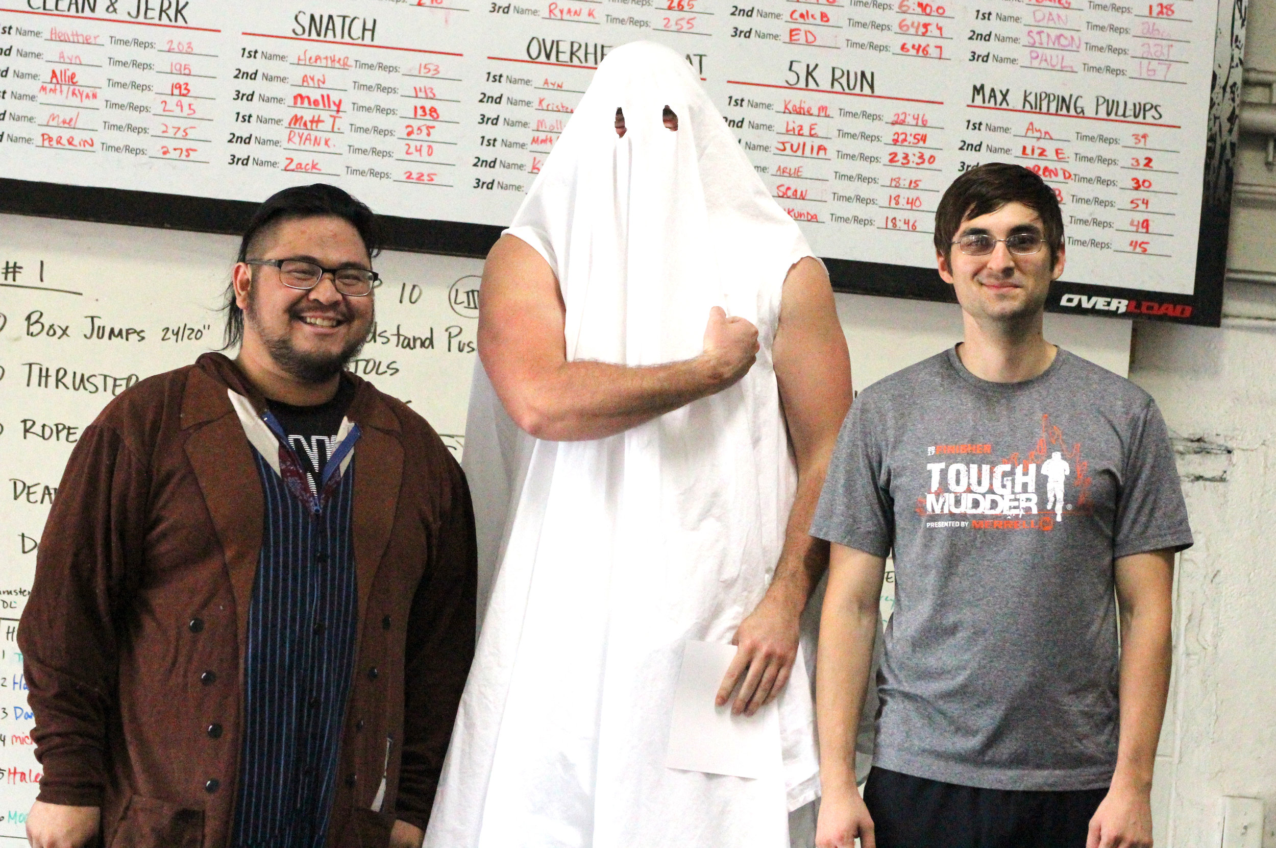 Congratulations to all of our Halloween Throwdown Competitors! It was such a fun and spooooky event! Pictured: Bueno, Trey, and Tom!