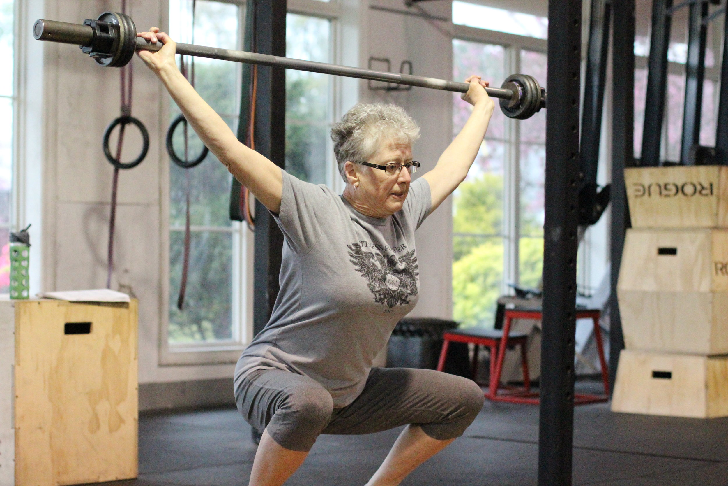 PVCF athlete, Freida Guillette demonstrates balance and poise during the snatch!