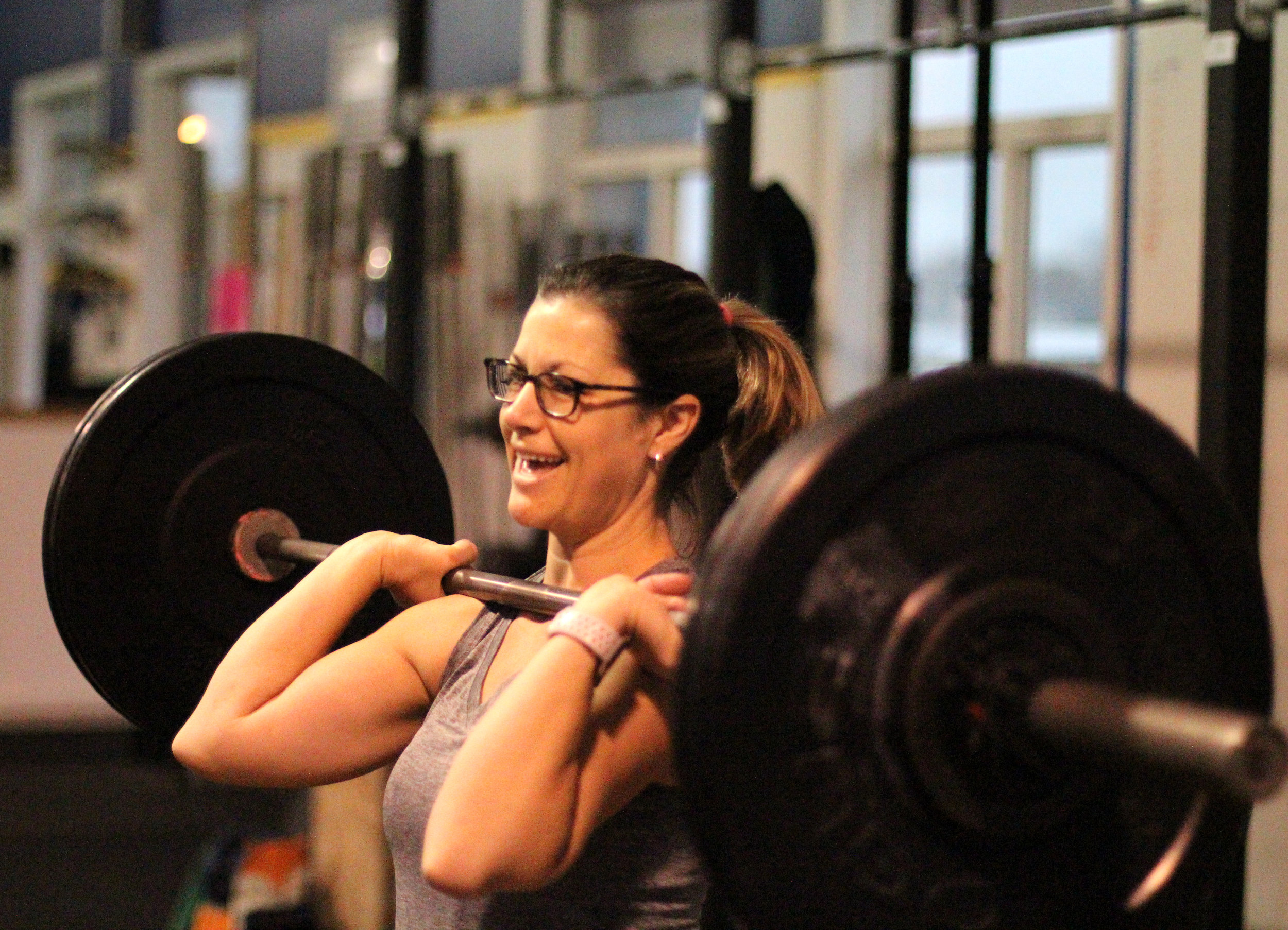 Here's to loving thrusters as much as PVCF athlete, Sharon Dion!