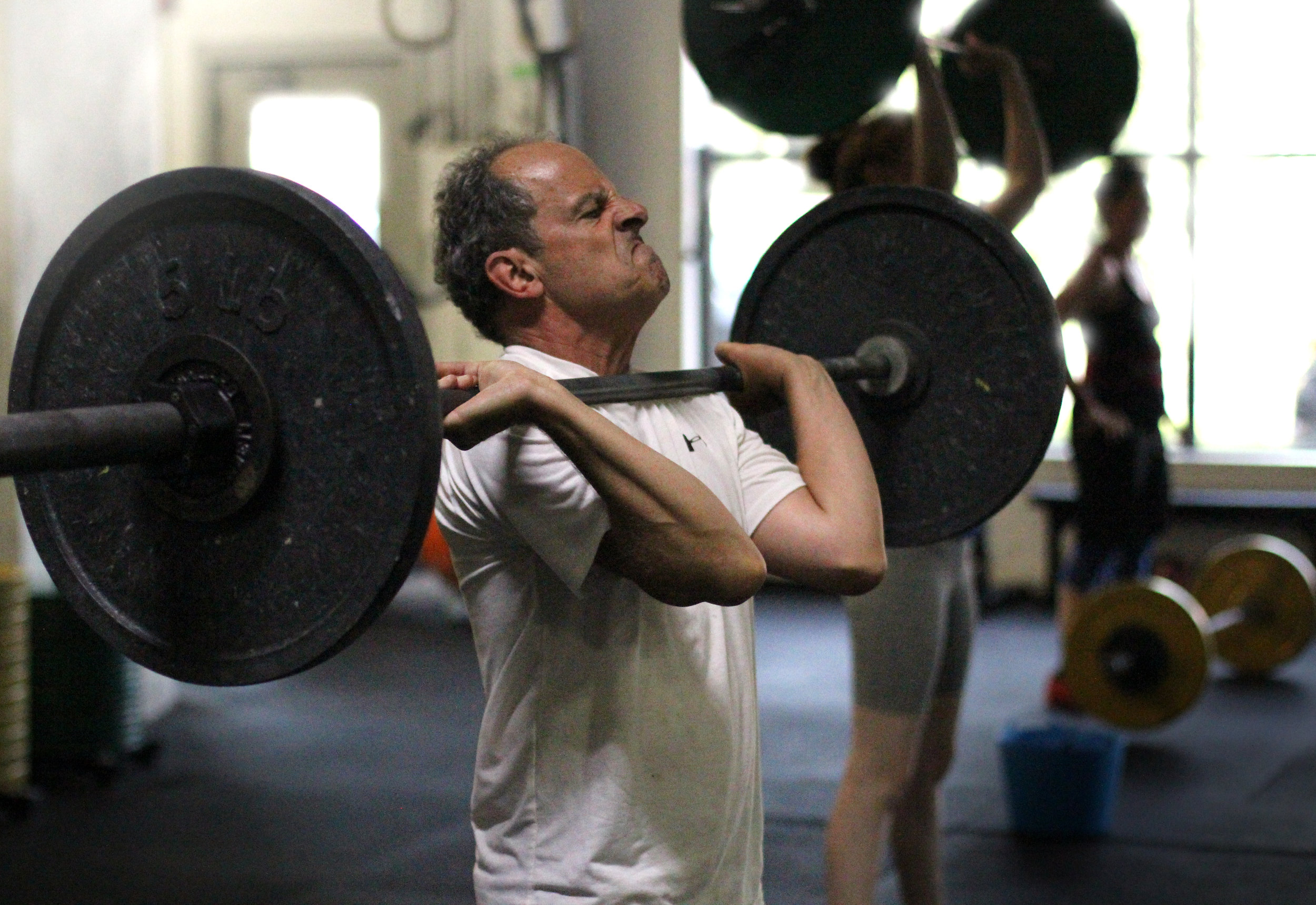 Here's PVCF athlete, Curtis Rich taking a ferocious breath in before sending this barbell overhead!