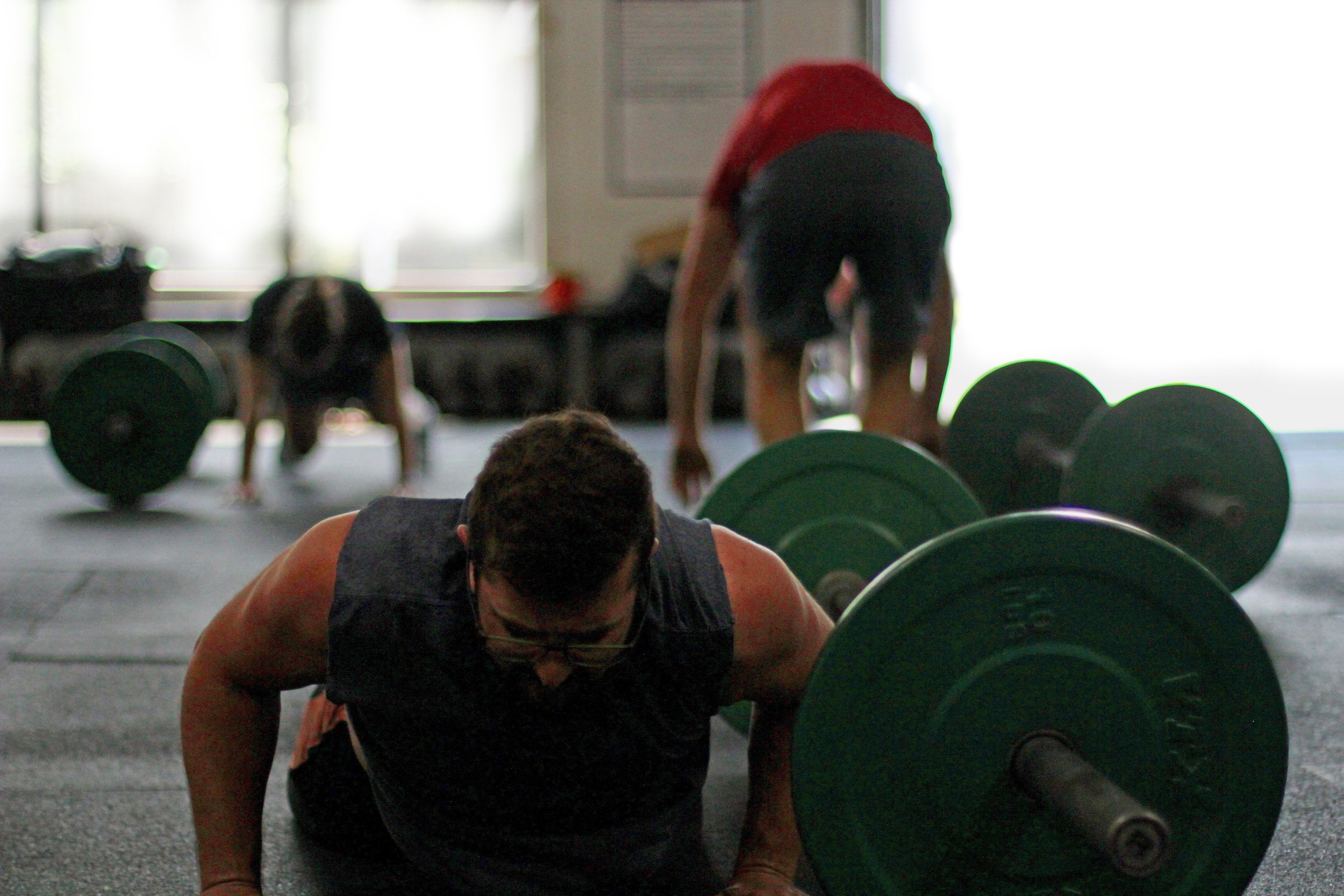 That feeling when Burpees over the Barbell gets real!