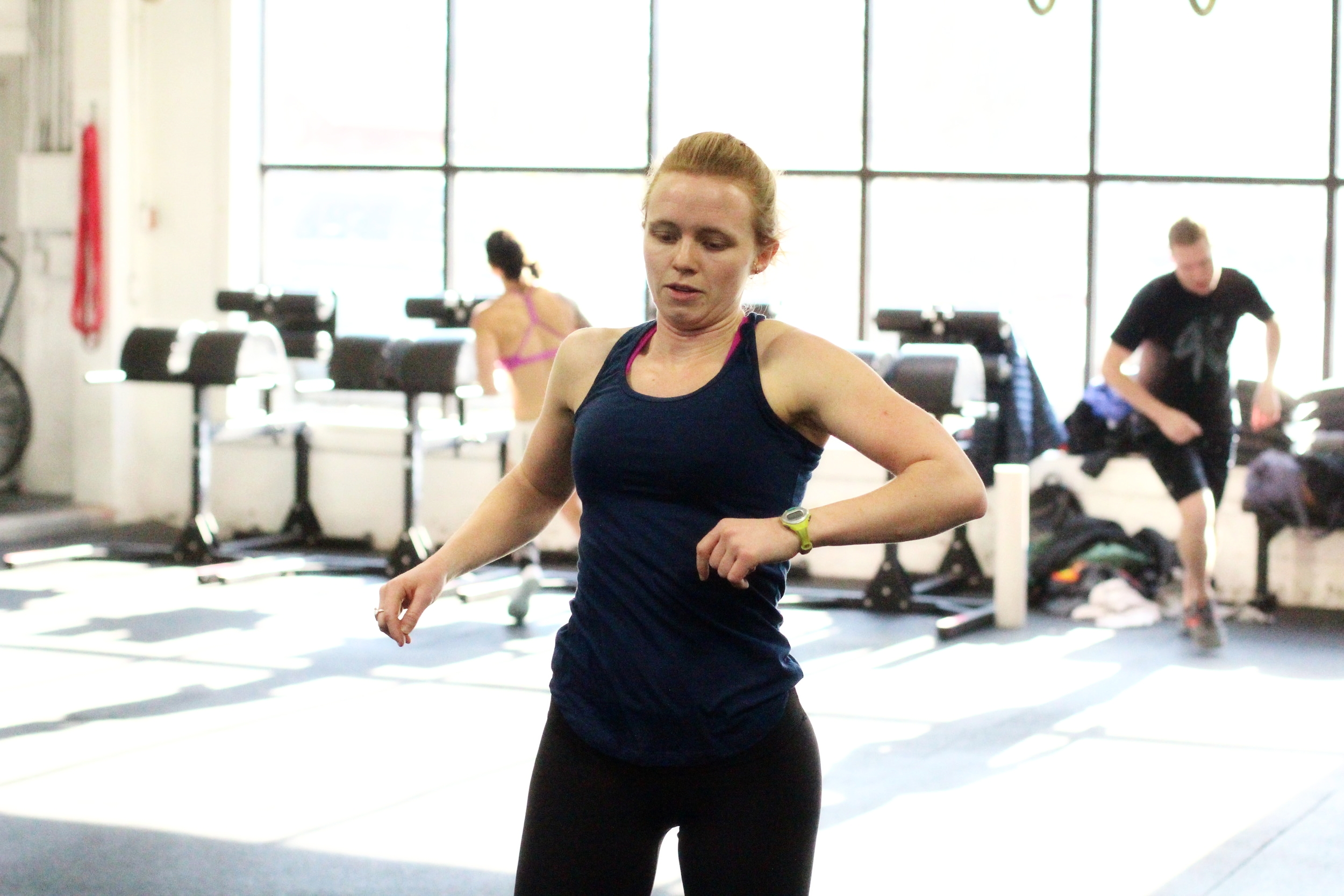 """PVCF athlete, Hannah Wolfe shows us how to """"flash"""" through the AMRAPs for Tuesday!"""