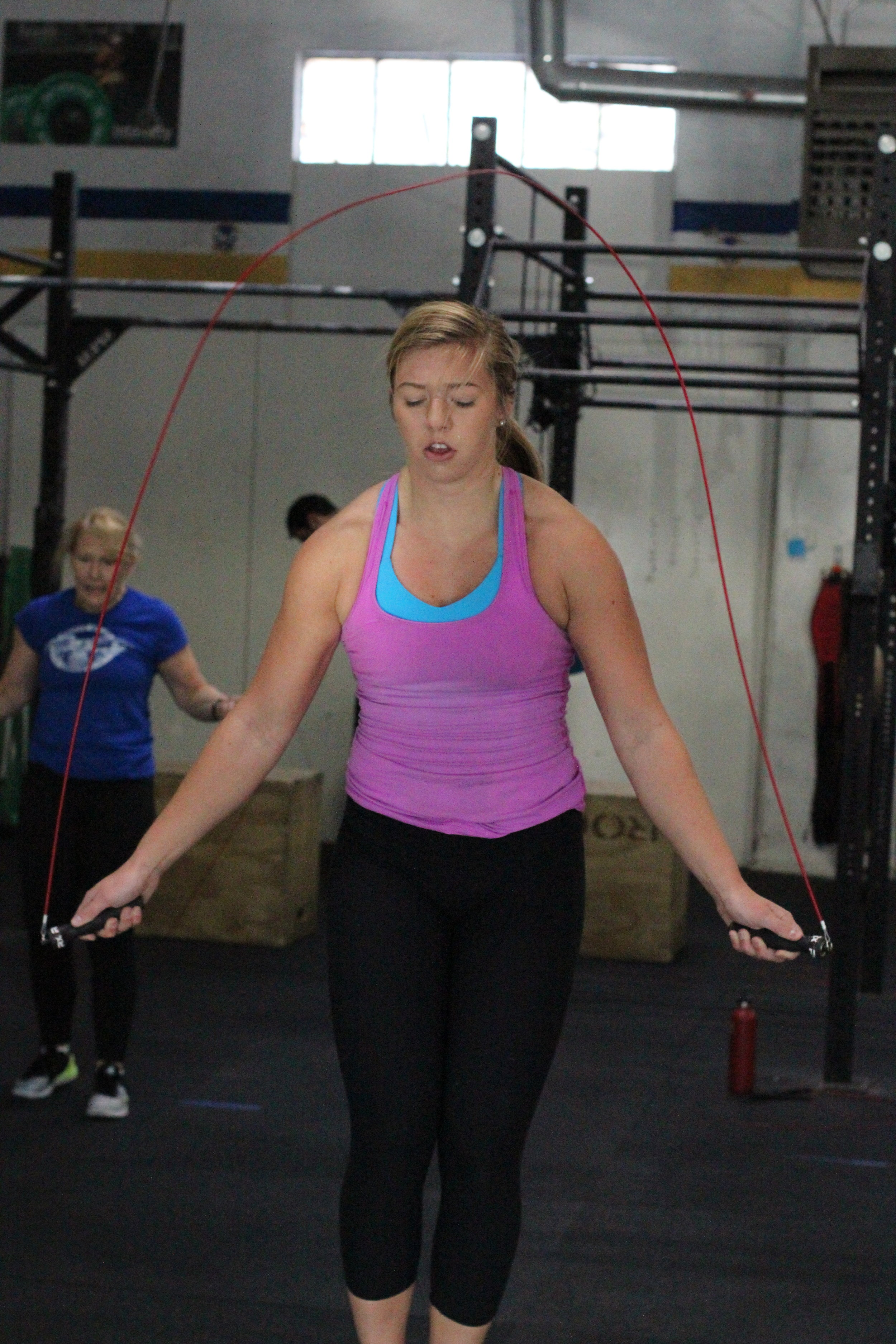 PVCF athlete,Bronwyn Shinnick gets in those double unders! Awesome work!