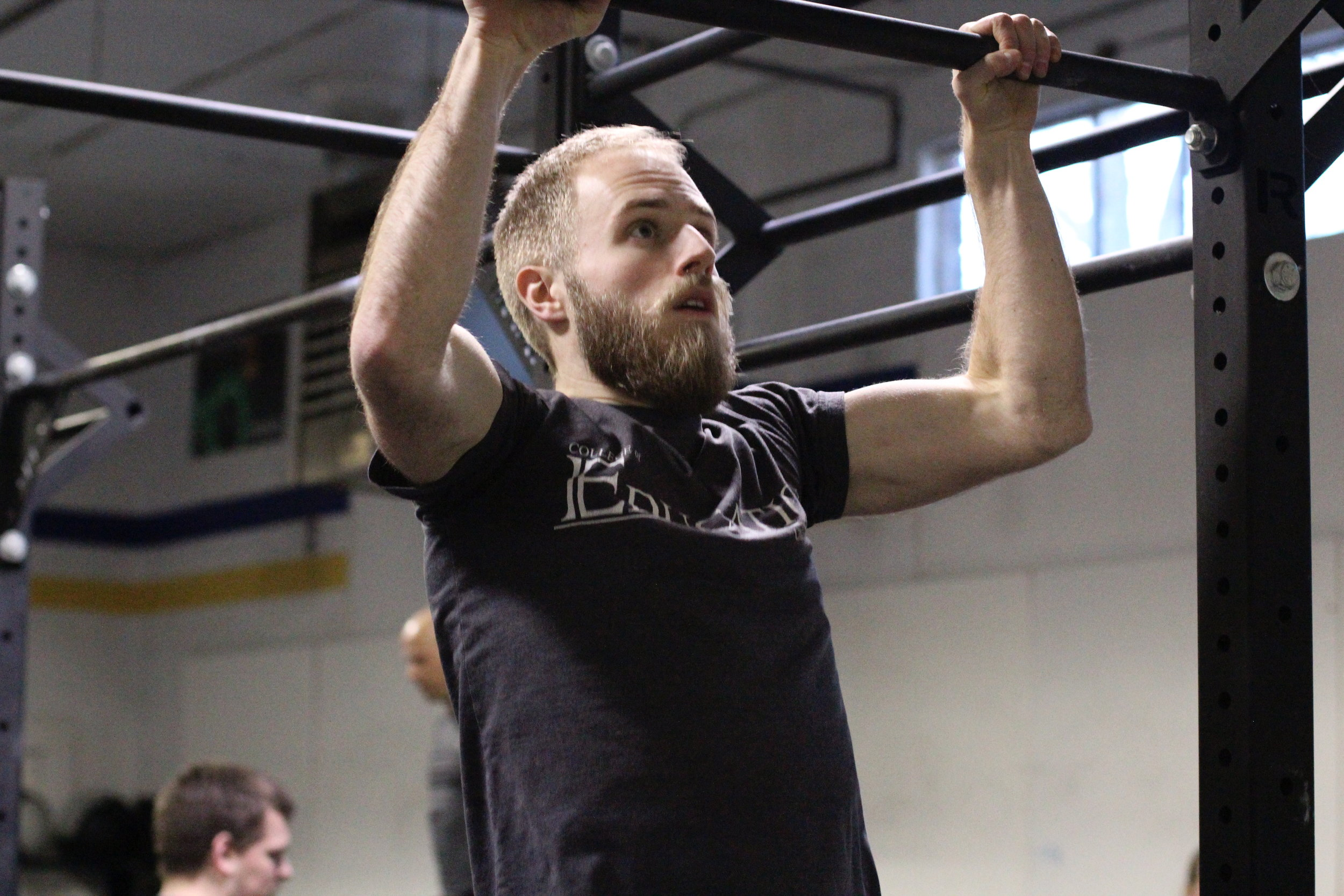 PVCF athlete, Jacob Brownell stays focused during a set of pull ups! Awesome job!