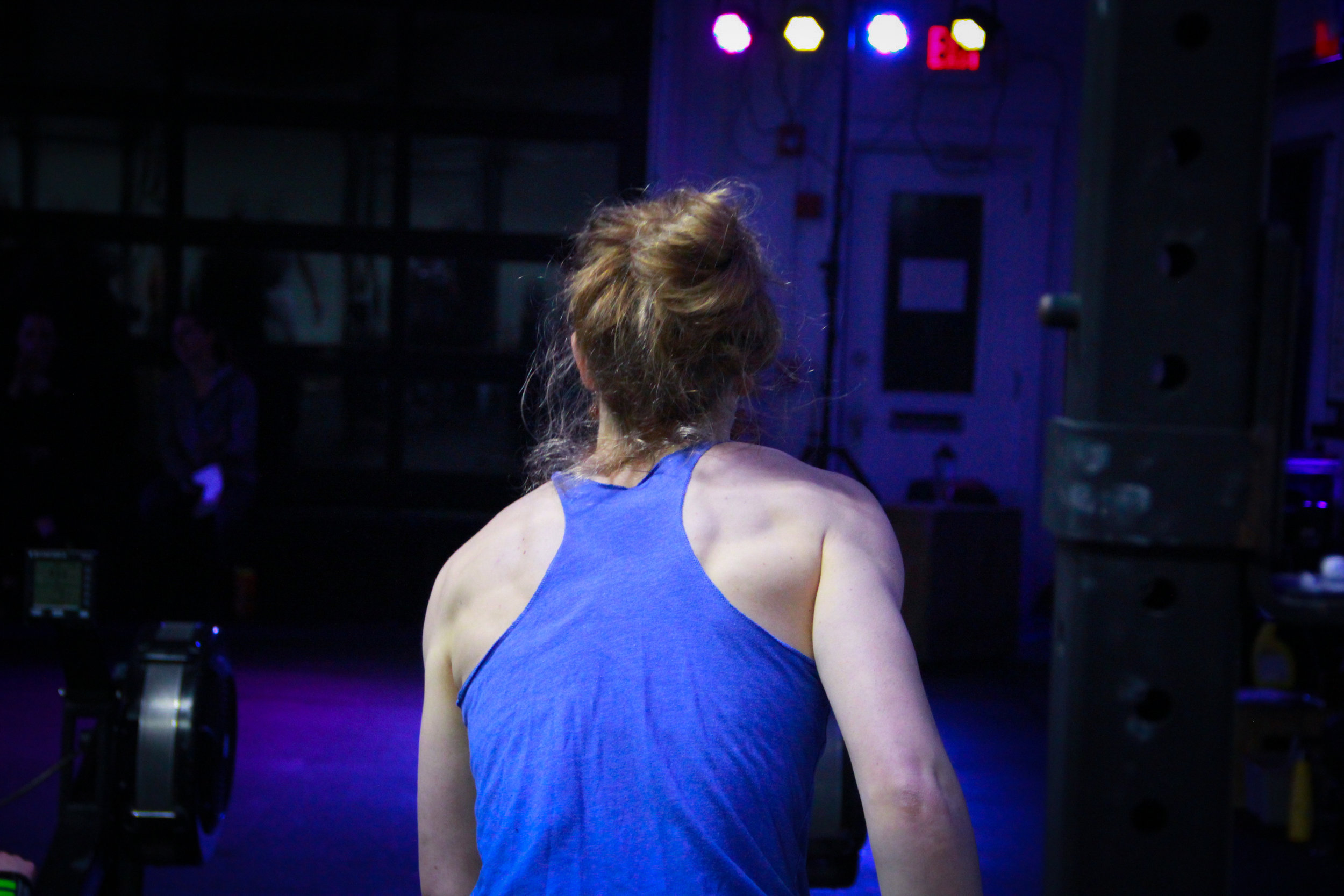PVCF athlete, Katie Byrne goes for blue on blue success!