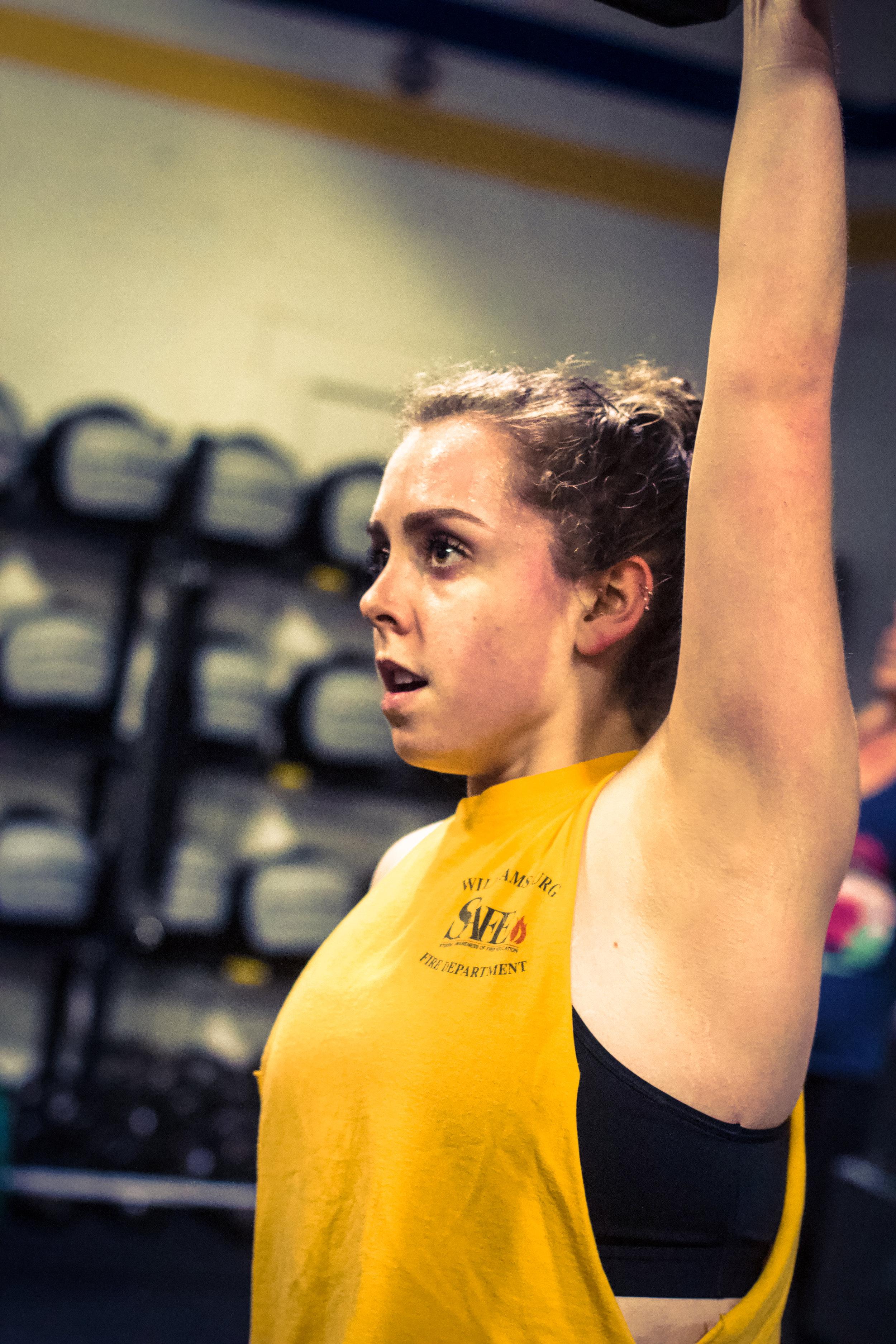 PVCF athlete, Sarah Callahan keeps always keeps her focus during a workout! Great job, Sarah!