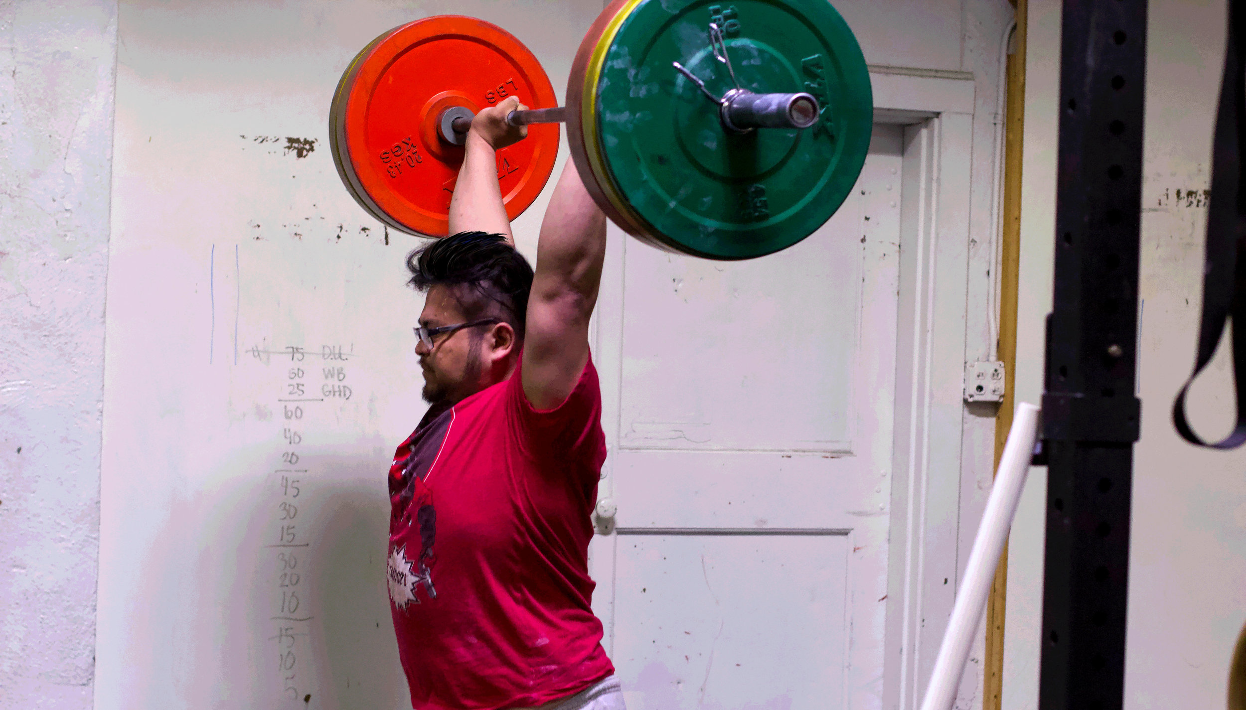 Here's PVCF athlete, Bueno Buenaventura getting after some heavy clean and jerks!