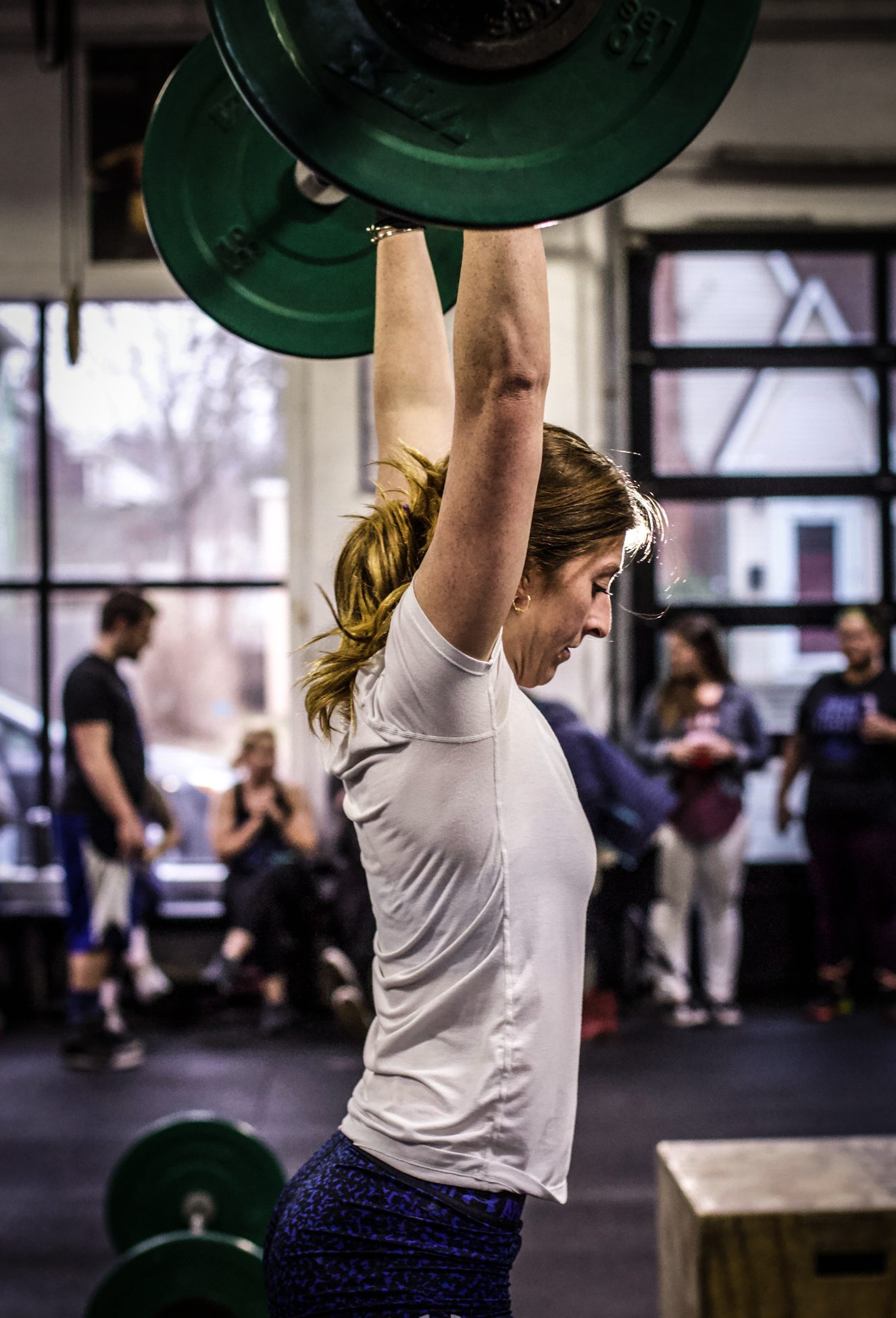 PVCF athlete, Michelle Lafond cycles through a set of thrusters;) What's your strategy when approaching a set of 50?