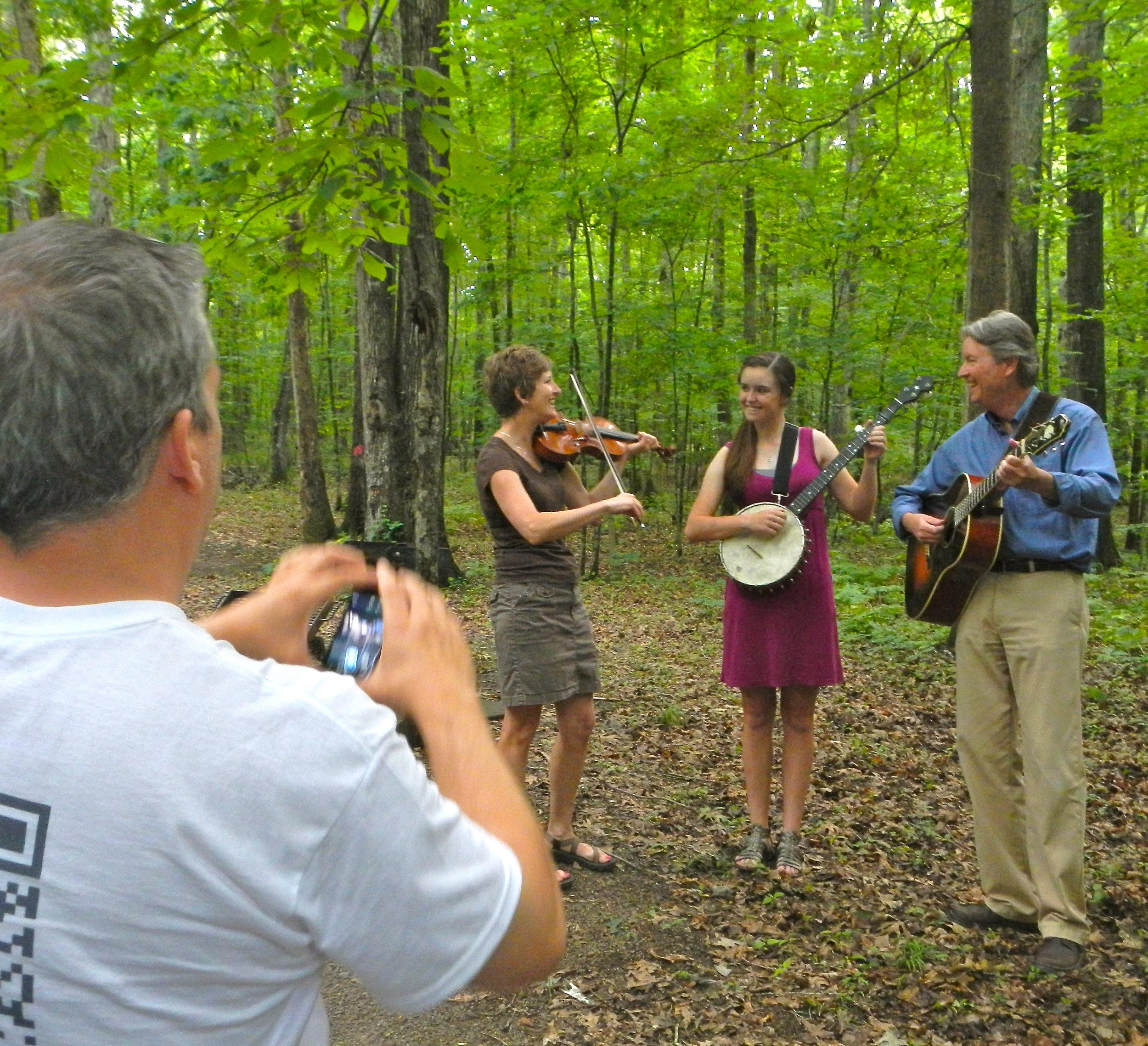 Dave shooting Marcia, Maddie and Greg.jpg