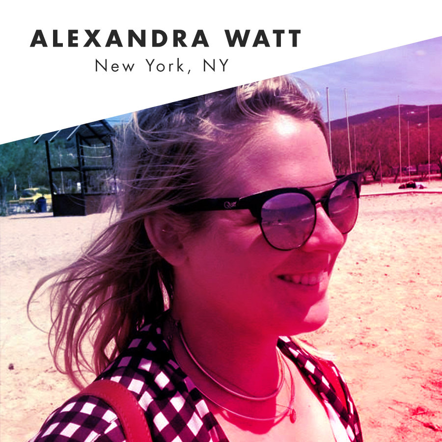 Alexandra Watt mindlessly roams around New York City shamelessly snap chatting various alter-egos and brainstorming which movie scene the song she is listening to belongs. While not hunting where the f*ck they serve queso, Alex balances her love affair with both her HBO subscription and any type of sauce while giggling to herself about nothing. Or something. She forgot.    @_alexandrawatt