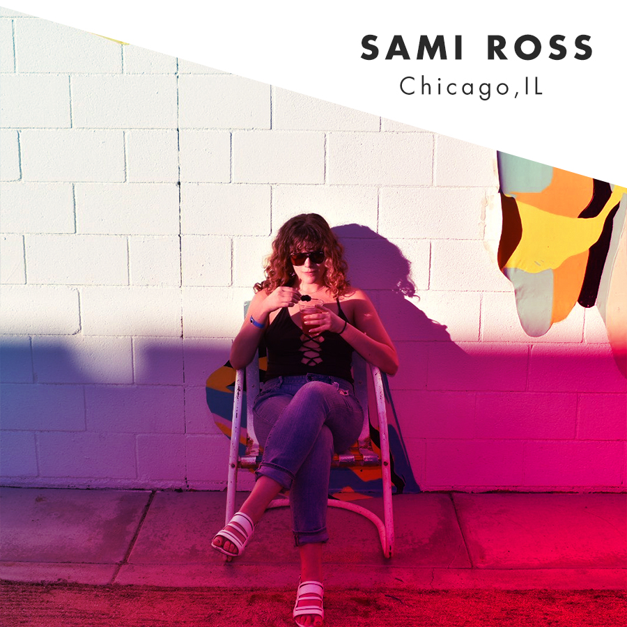 """Sami is a Chicago-based copywriter by day and Creative by night. Outside of her writing career, she likes to express her creativity through her yoga practice, and is working towards her teacher certification. Currently, her favorite word is  erleichda - a Tom Robbin's creation that means """"lighten up.""""    @beetliever      Website"""
