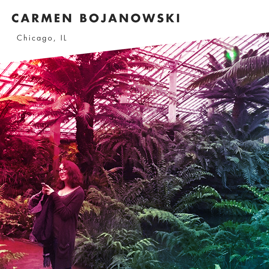 Carmen Bojanowski is a Detroiter living in Chicago. She is a houseplant and dive bar enthusiast, and it's a safe bet that at any given moment, she's either writing, cross stitching or playing with her puppy, Seth Cohen.    @_carrrmen      Website