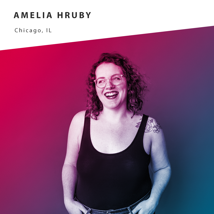 """Amelia Hruby is a writer and artist living in Chicago, IL. She recently launched Fifty Feminist States, a multimedia storytelling project interviewing feminist artists and activists across the United States. It was named a Kickstarter """"Project We Love"""" and will soon be a podcast you can listen to!    @fiftyfeministstates      @ladyameliaa"""