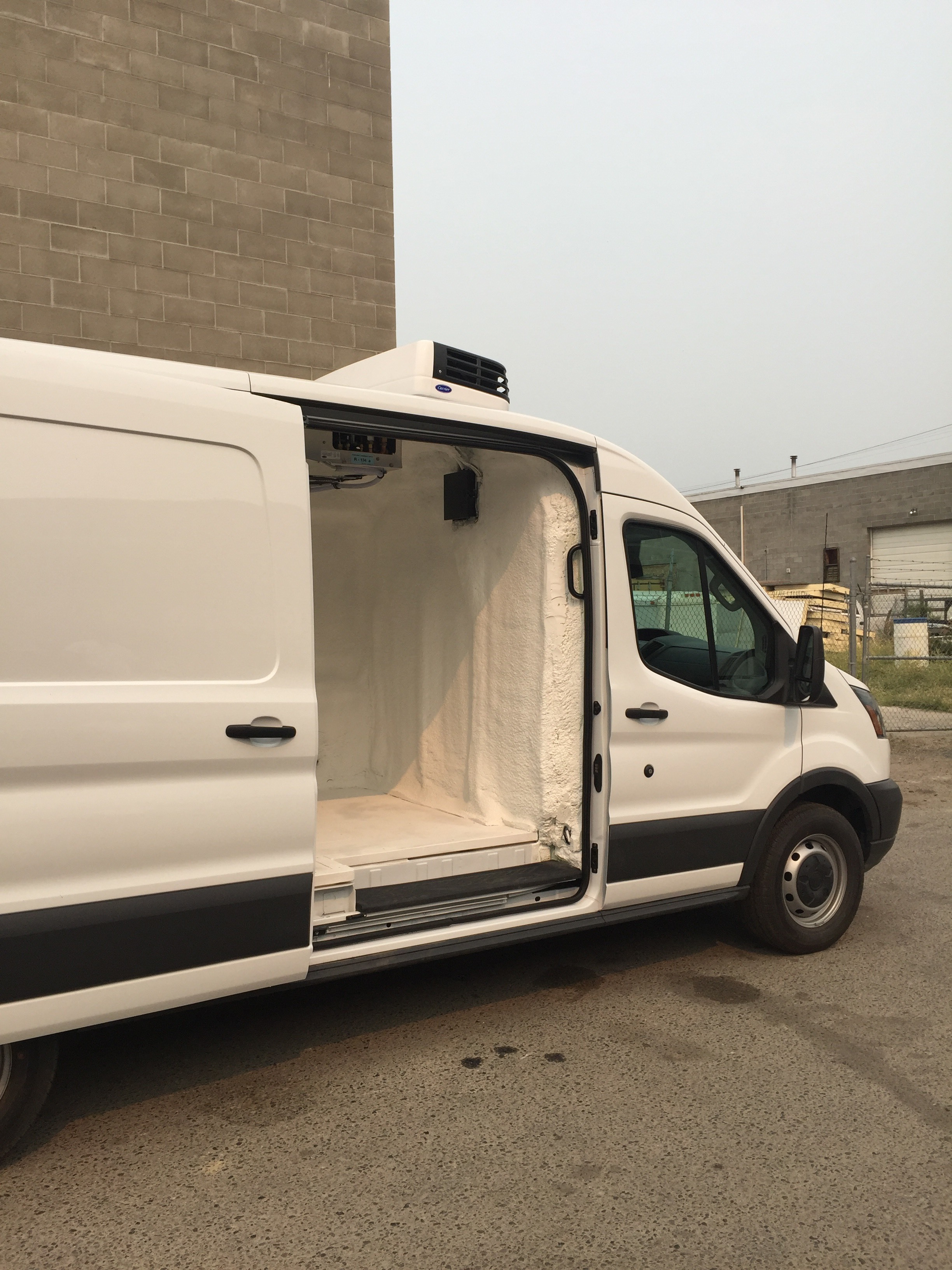 2017 Ford Transit Van Carrier reefer install and insulate.