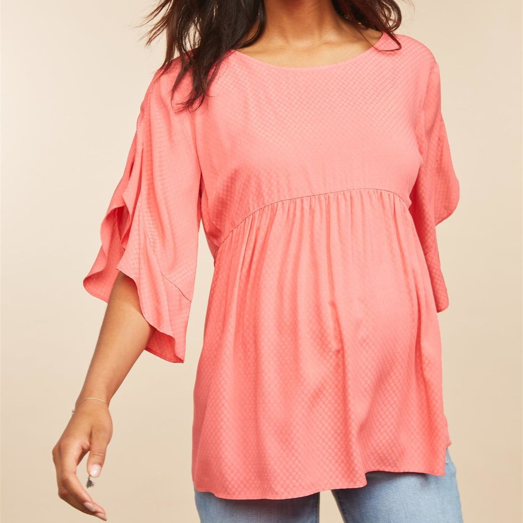 Flutter Sleeve Maternity Top