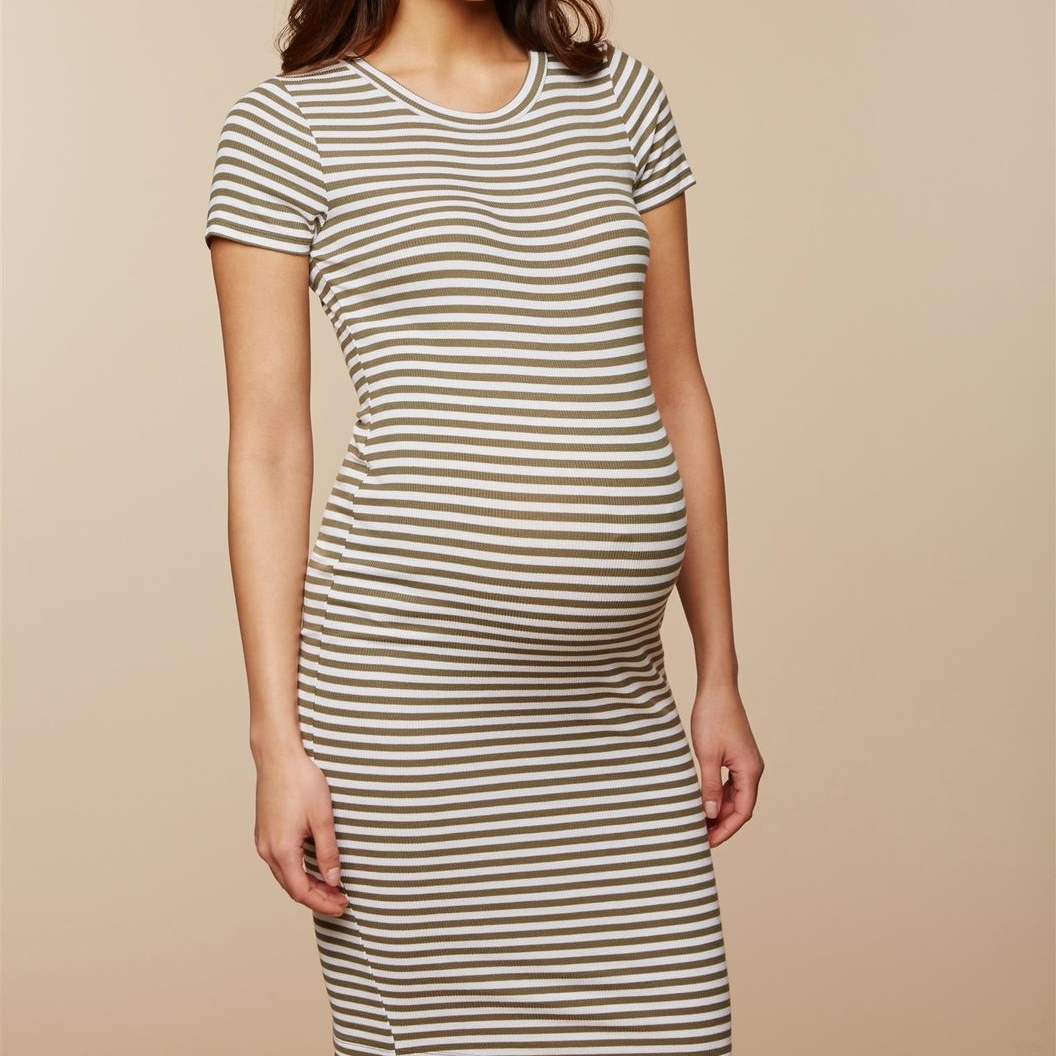 Rib Knit Maternity Dress