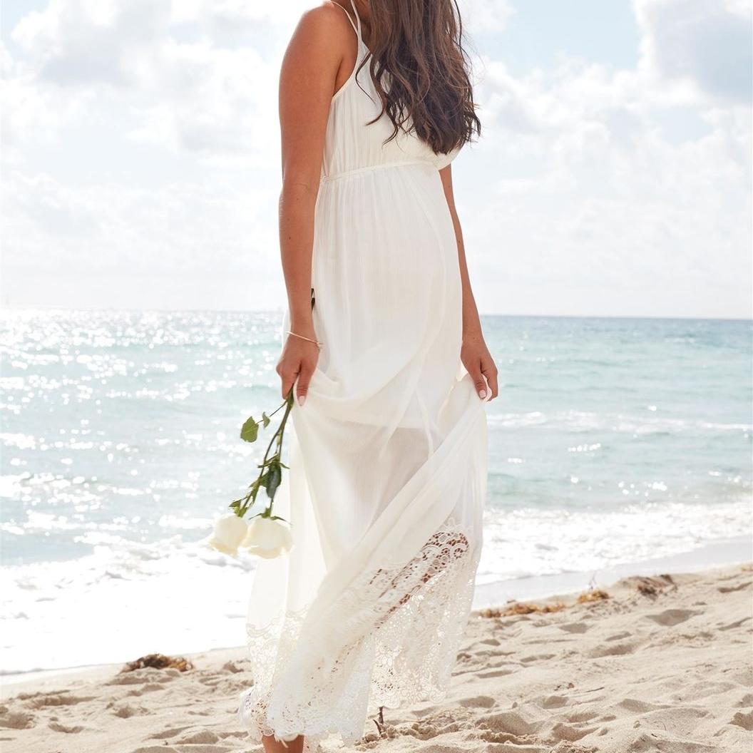 Lace Hem Maternity Dress