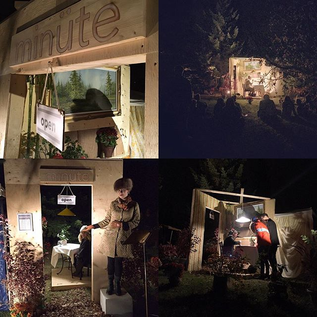 Finally starting to recover from @nuitblancheyxe ! Thanks to everyone who came to visit our #tinyrestaurant on Saturday! Huge thank you to our sponsor @saskmade for providing local ingredients, @dutchgrowers for plants, and to @chefschmeer for cooking the TASTIEST tiny three course dinner! #nbyxe16 #minutebybam #chefschmeer #saskmade #yxeeats