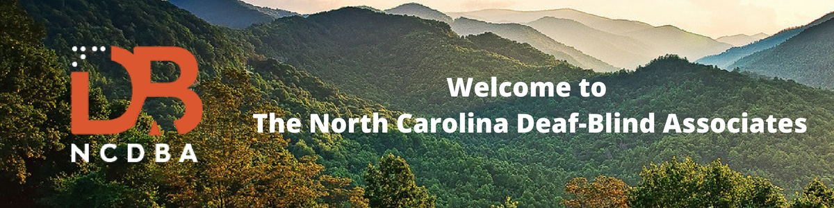 """Welcome to The North Carolina Deaf-Blind Associates"" with NCDBA logo"