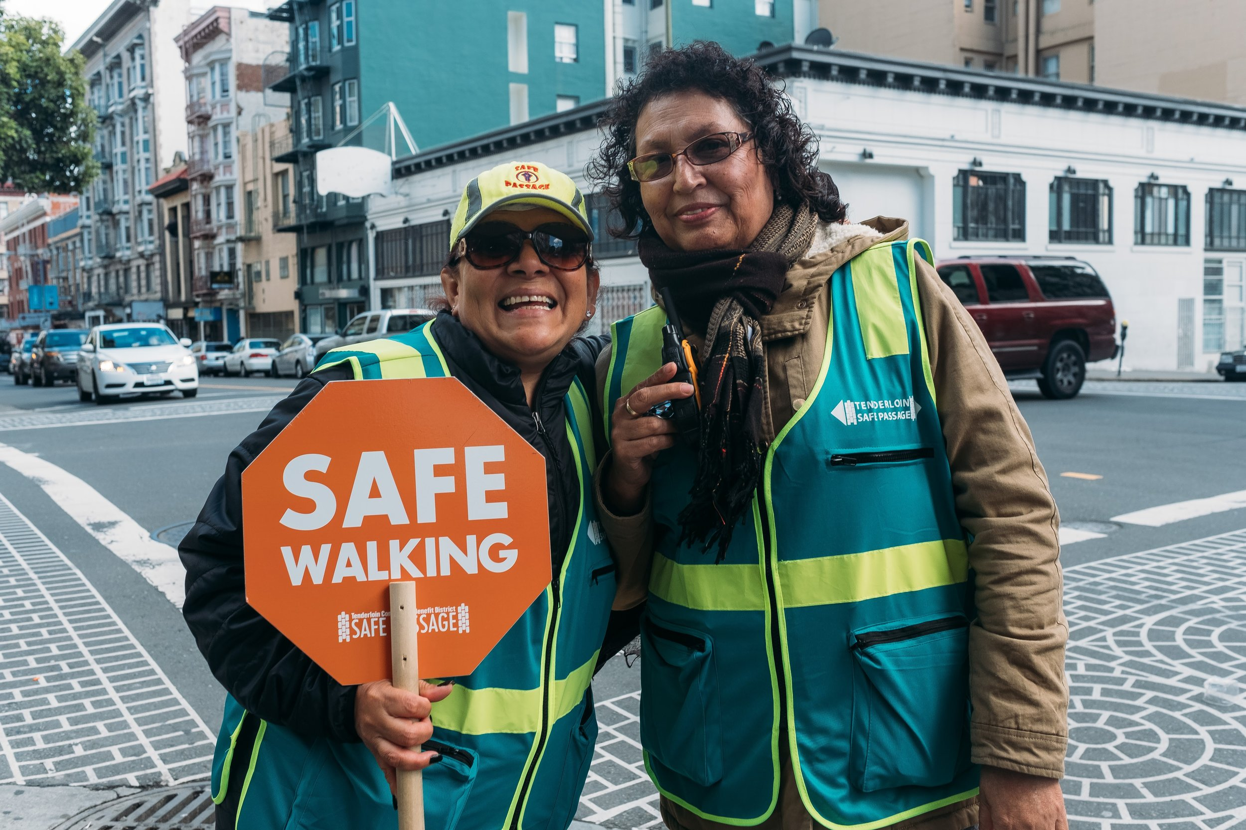 Safe Passage Senior - Safe Passage Senior works to increase safety and perception of safety for seniors in the Tenderloin.READ MORE