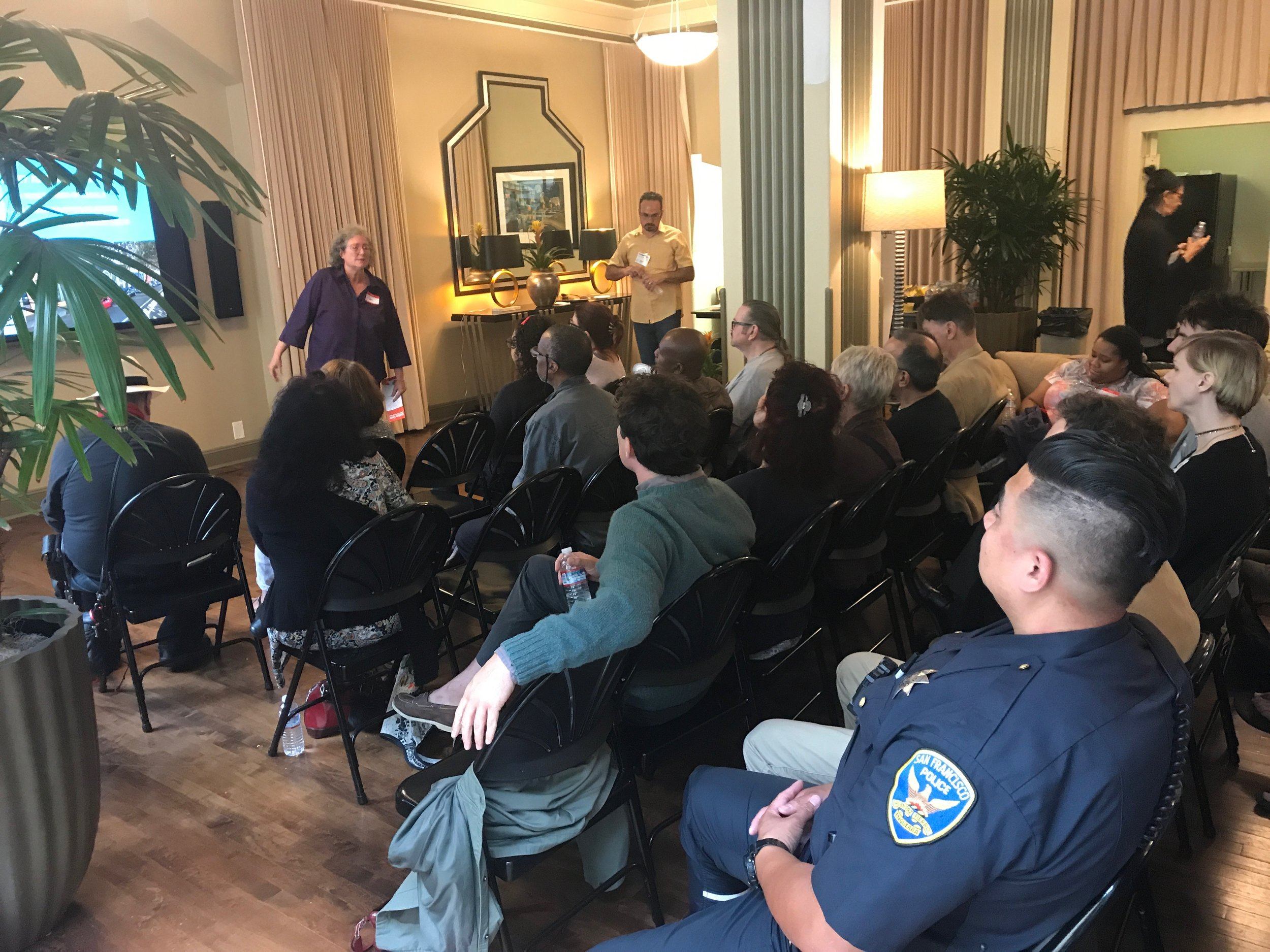 Kim Jackson of the Local 2 Hotel Workers Union shares her experience as a member of the Golden Gate Block Safety Group.