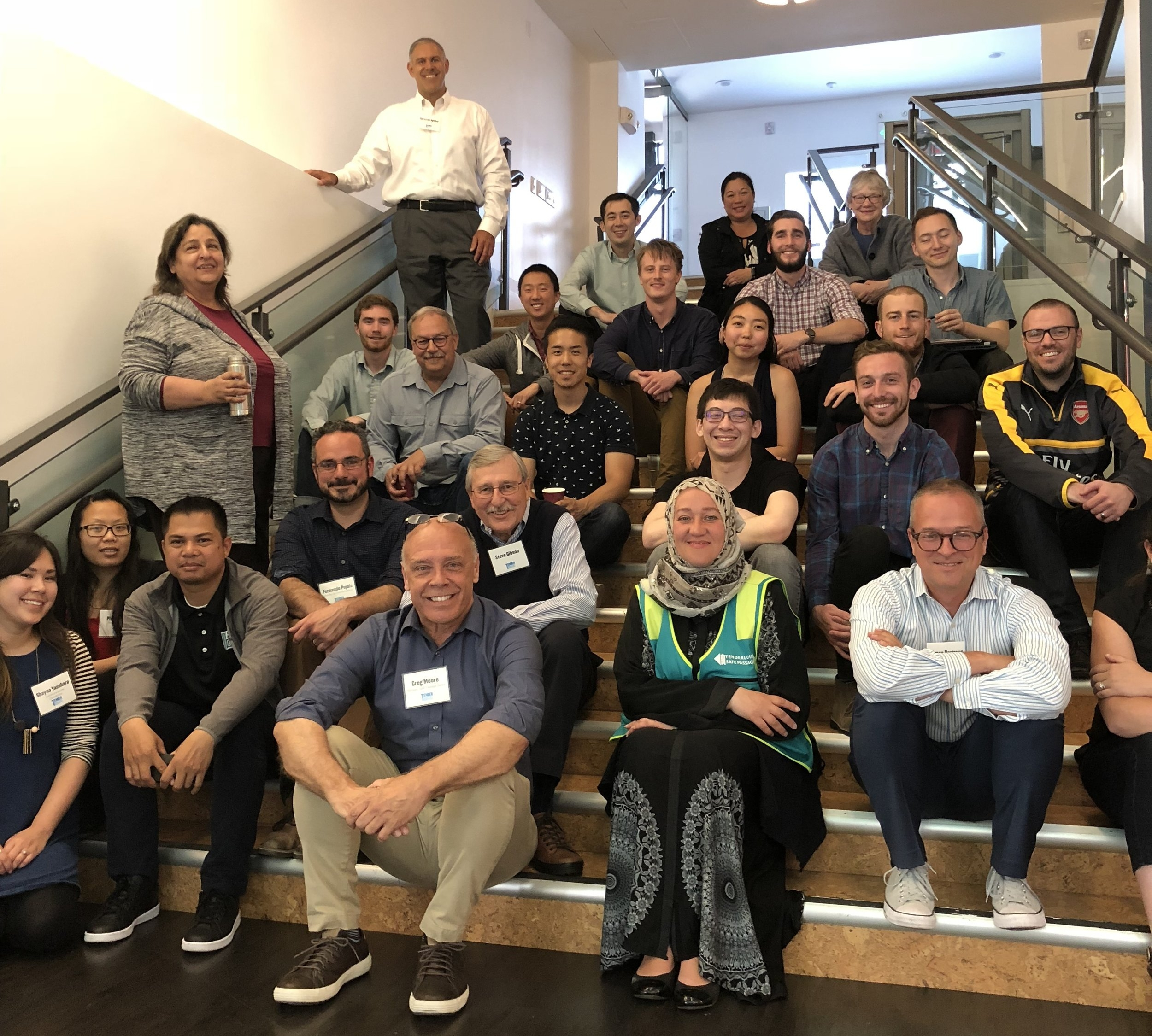 TLCBD and P.A.E. staff at P.A.E. San Francisco offices at 48 Golden Gate Avenue in the Tenderloin.