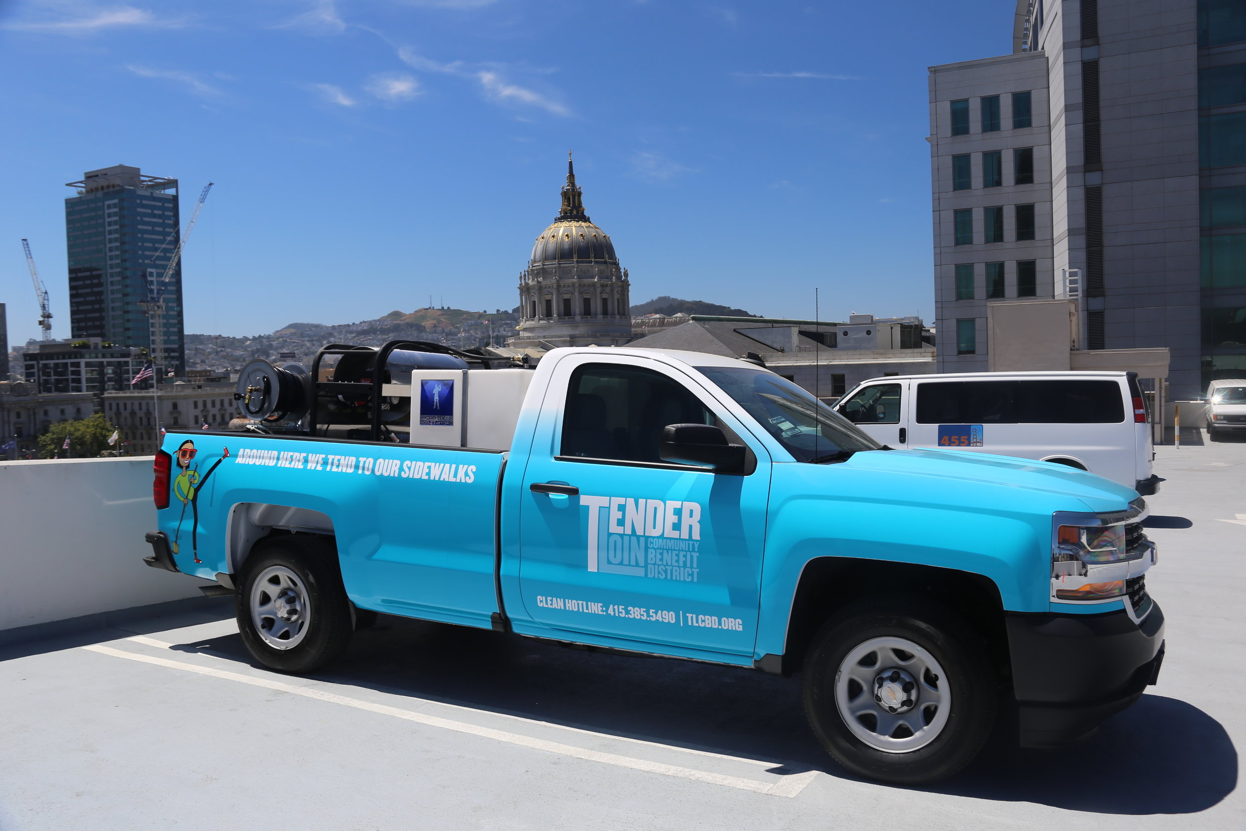 Have you seen these trucks out and about? Say hello to our Clean Team members!