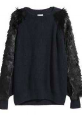 Knit sweater with fur section  $49.99