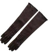 Long Black Leather Gloves  $172