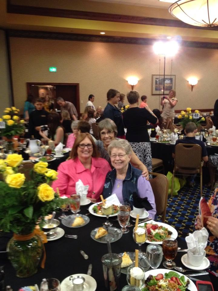 "Owner, Mary Beffa, is recognized and nominated for the ""Women of Achievement"" award at the Zonta Yellow Rose luncheon in 2014.  Accompanied by her mother, Rosemary Cassidy and her sister, ReRe Noelke."