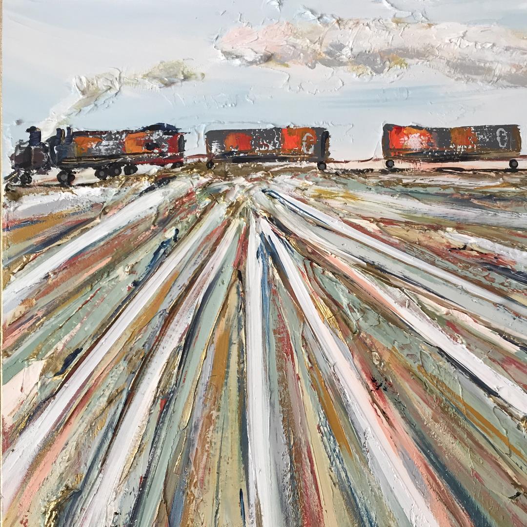 memphis germantown train engine art