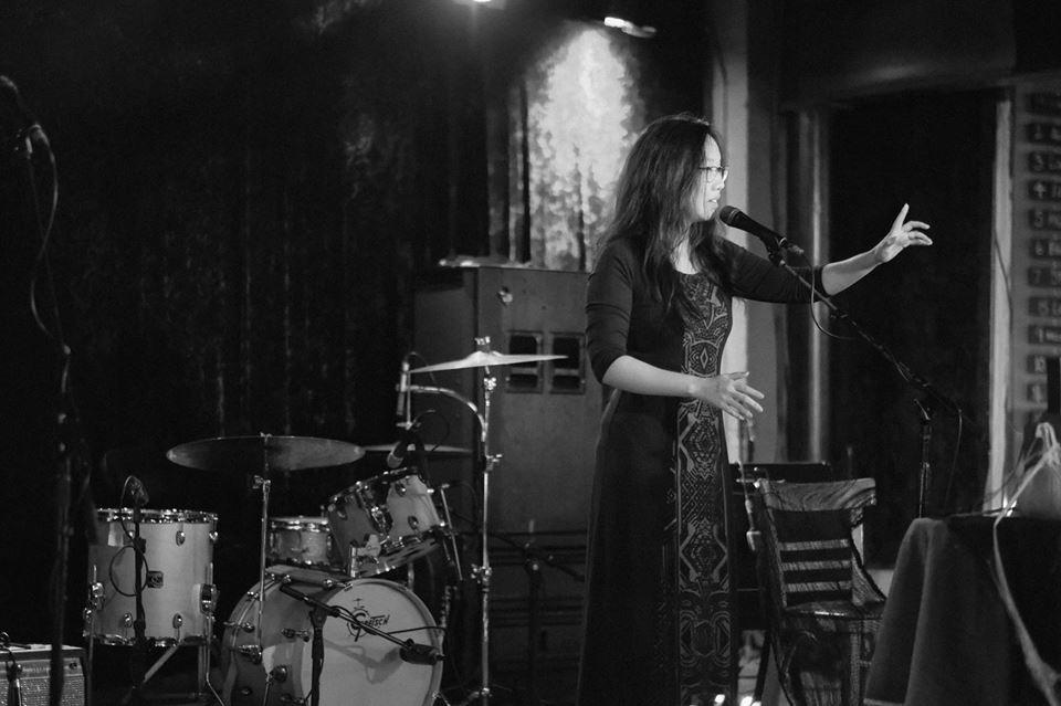 Sophia Terazawa at spiderweb salon's fourth annual masquerade | photo by Brian Doore | 2016