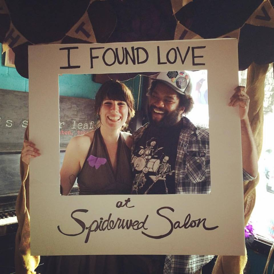 Charlie & spiderweb co-founder courtney marie at Spiderwed Salon, May 2016