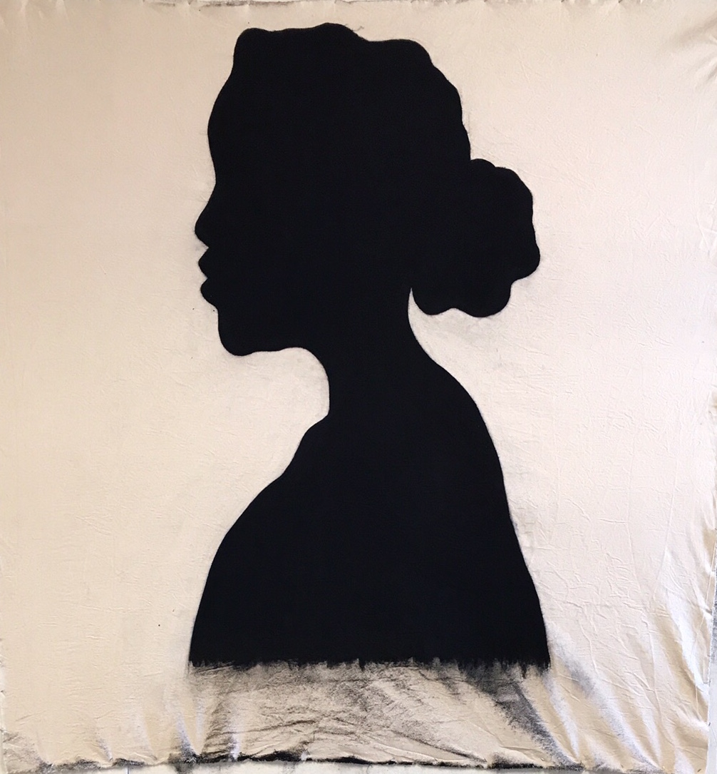 Taylor Barnes, 24 ,MX dye and charcoal on cloth