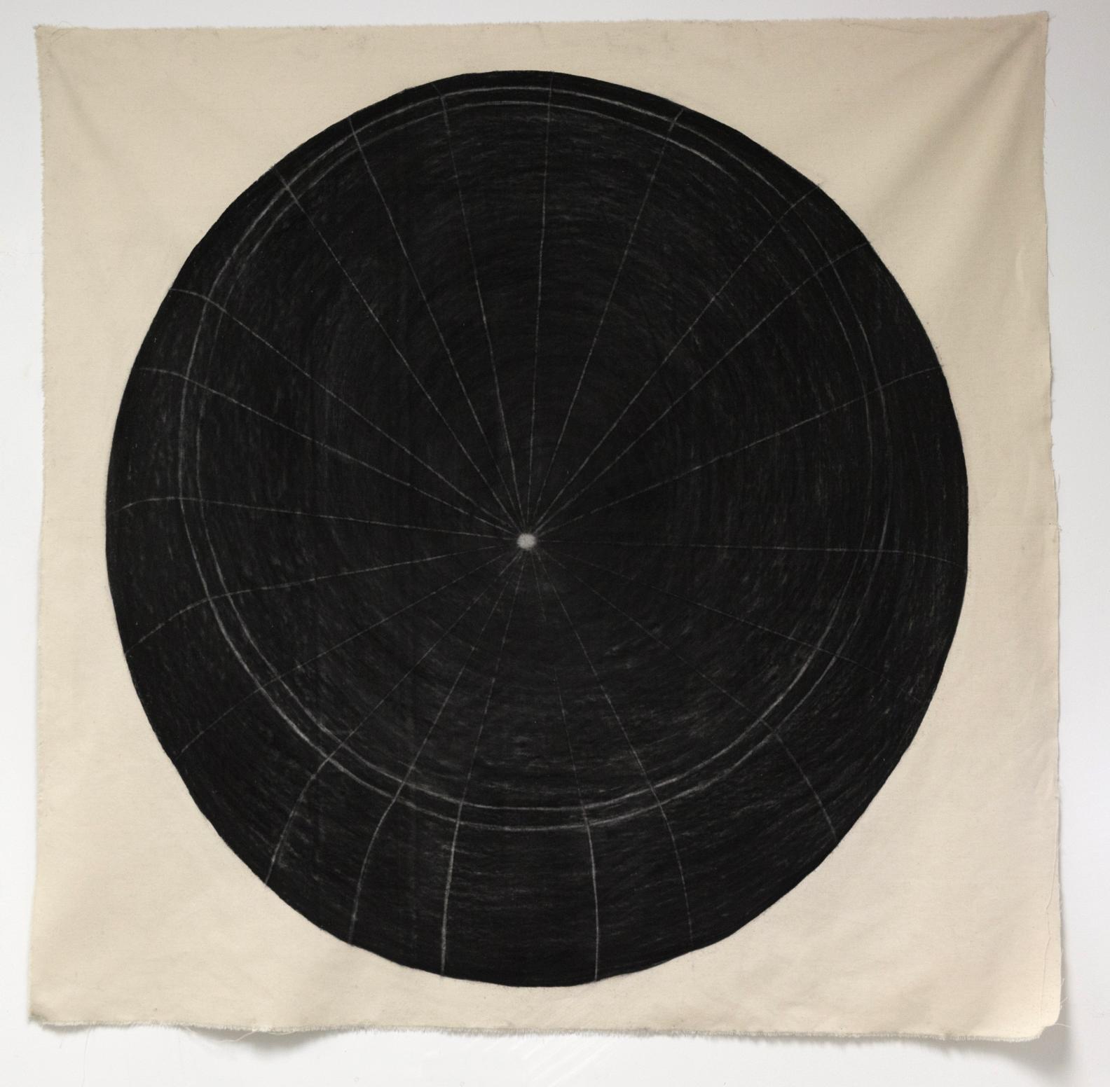 Taylor Barnes, Oreo ,charcoal on cloth