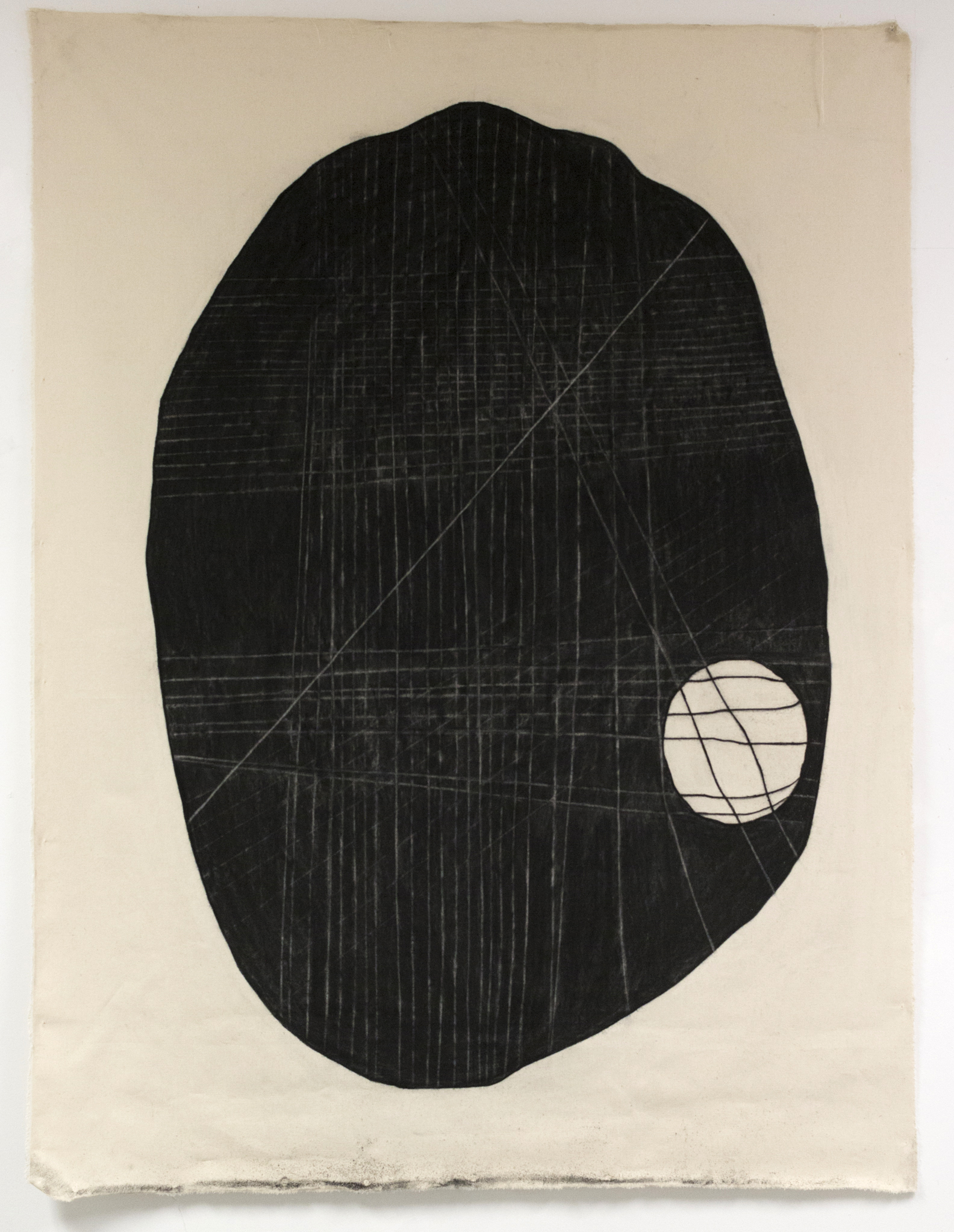 Taylor Barnes, That Thing You Said Still Eats at Me ,charcoal on cloth