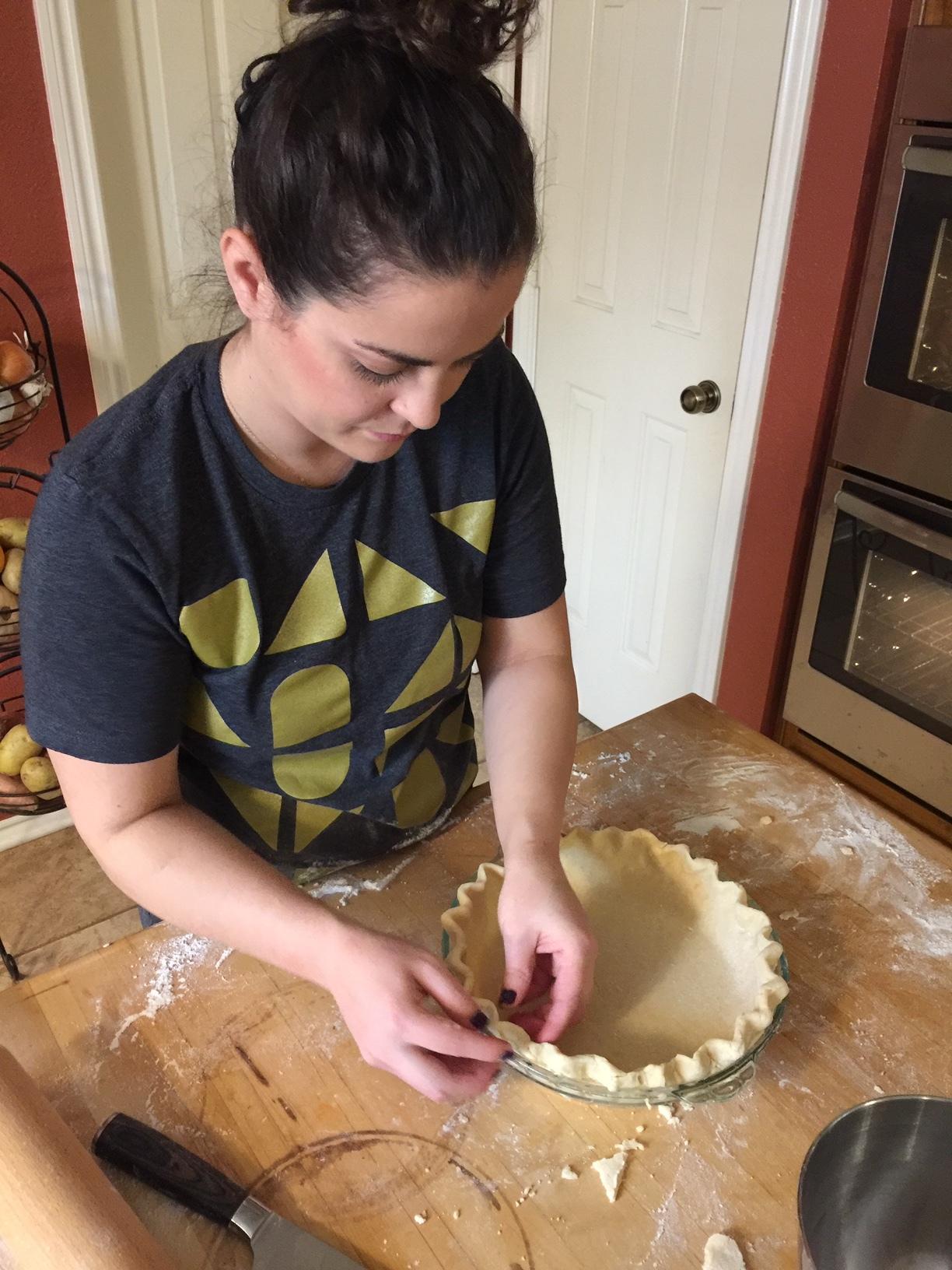 Caitlin the pie crust QUEEN!