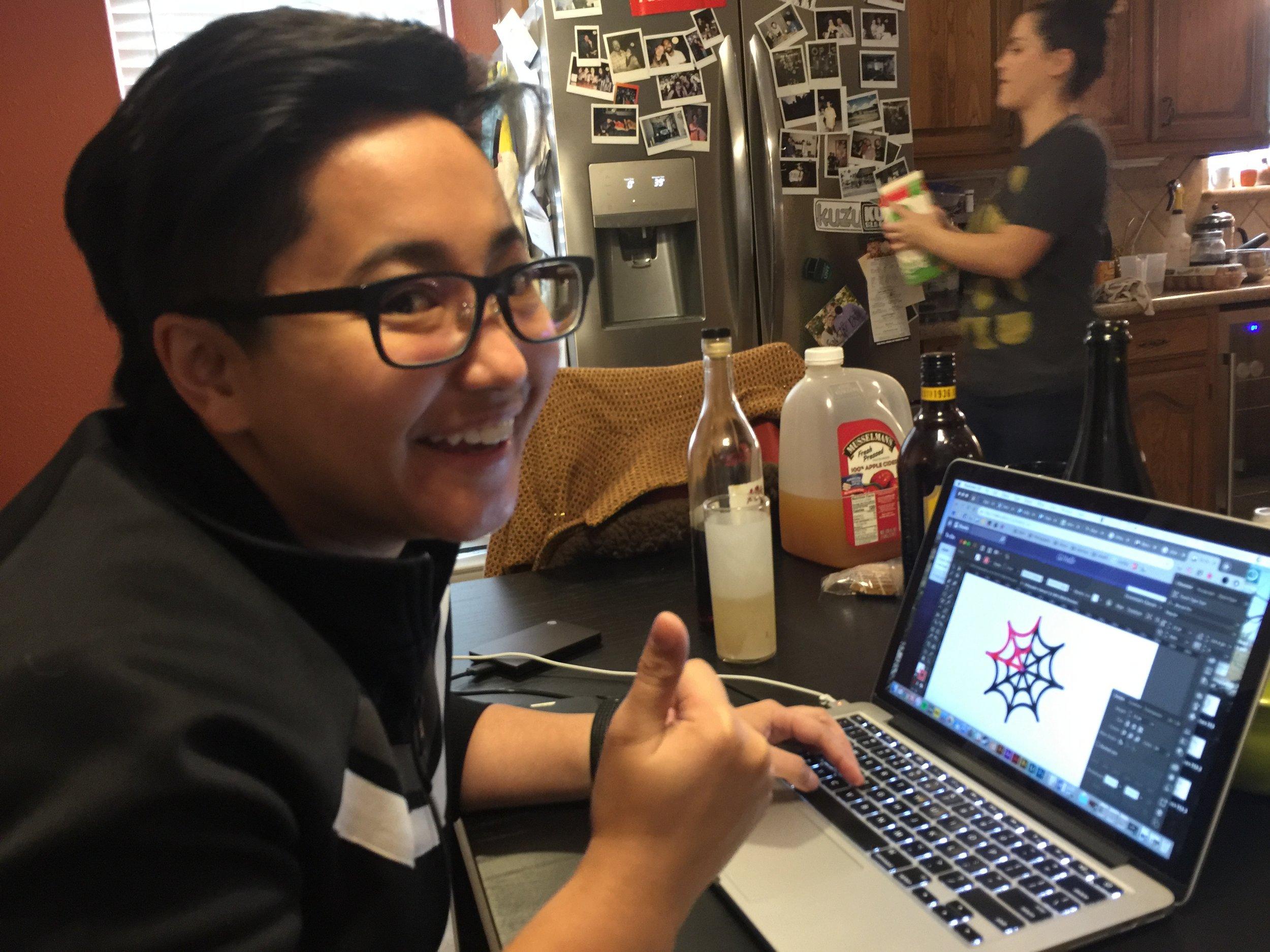 Nina: professional designer and taste-tester!