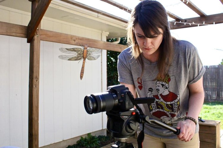 Leah Jones  {she/her}  photography, videography   Leah Jones is an editorial photographer and menswear stylist based in Dallas. Her work has been featured in publications such as Men's Health, GQ, Vogue Online, Los Angeles Times, Martha Stewart Wedding, Marvel Digital Content, and she has shot print work for Disney brands and Neiman Marcus. Leah moonlights as an event photographer focusing on local musicians and artistic collectives. She has been lovingly photographing Spiderweb Salon showcases for many years and deeply appreciates the opportunity to celebrate all people and document their artistic expressions. To preserve sanity, she dances frequently, and enjoys writing short scripts and essays dealing in terribly twisted horror or bounding comedic gaiety. She resides in Downtown Dallas with her partner, Jacob, and their beloved cat, Waffles.   leahcarolinejones.com  |  Instagram