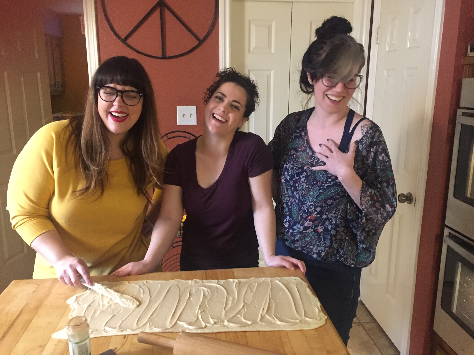 Just some babes and their cake-batter-butter-covered dough.