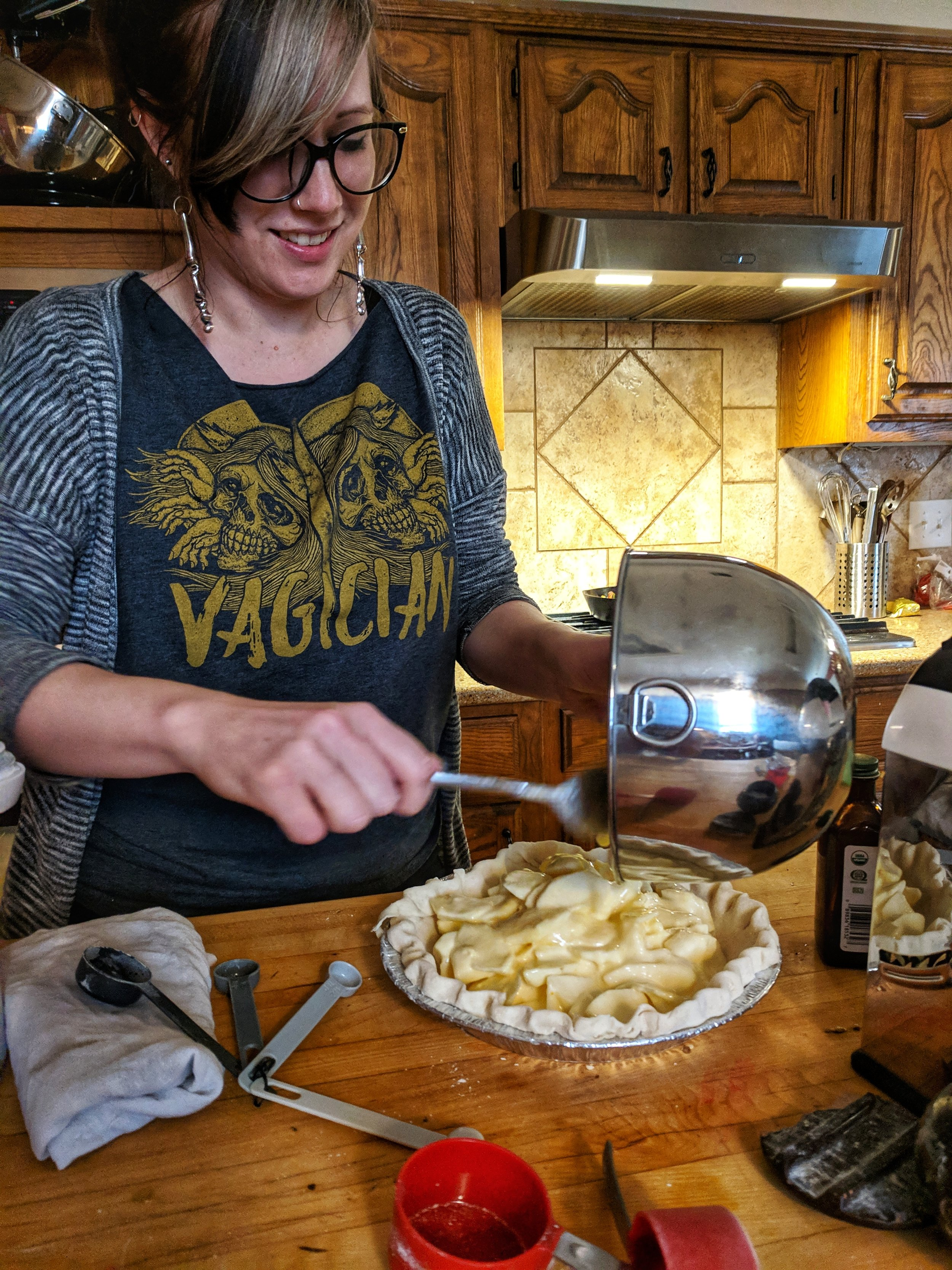 courtney marie and her sour cream apple pie!  photo by Caitlin Childs