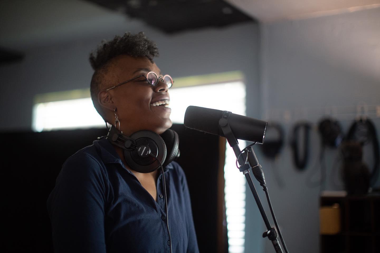 Lei Lei Lashawn recording L.O.V.E. at Shiny Sound Recording Studio. Photo by Nina Chantanapumma