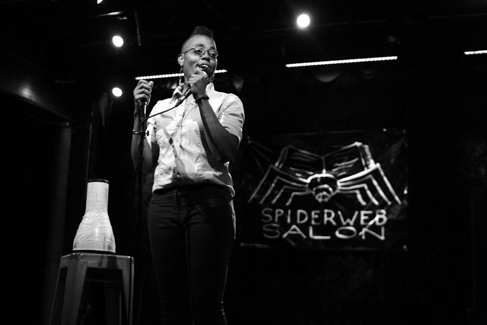 Photo by Samuel Escalante at Spiderweb Salon's Radio Poets Live!